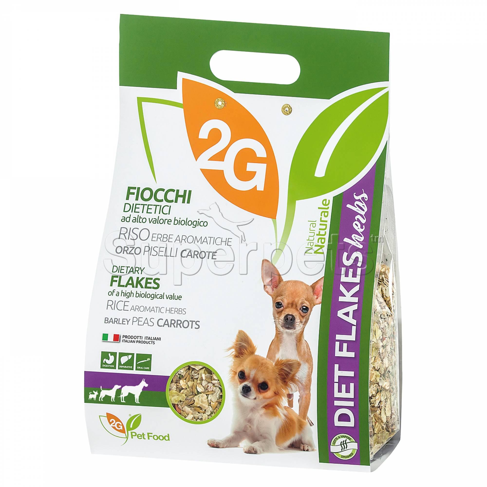 2G Pet Food - Diet Flakes Herbs 2kg