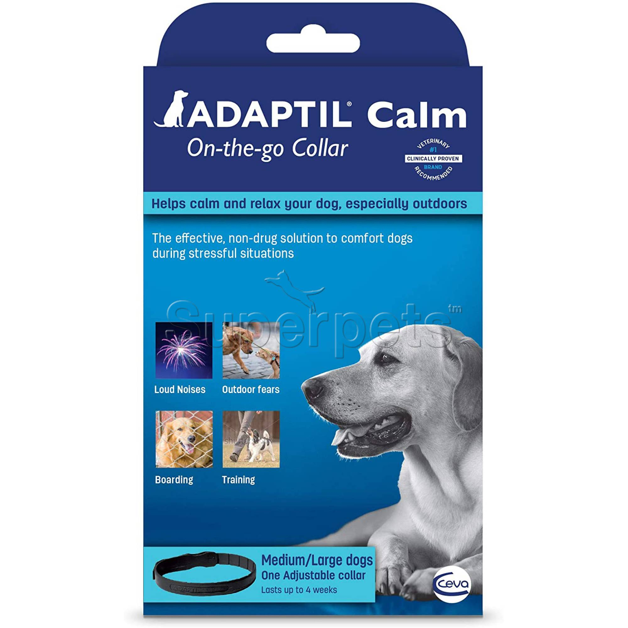 Adaptil Calm On-the-go Collar for Medium & Large Dogs (up to 67.5cm)