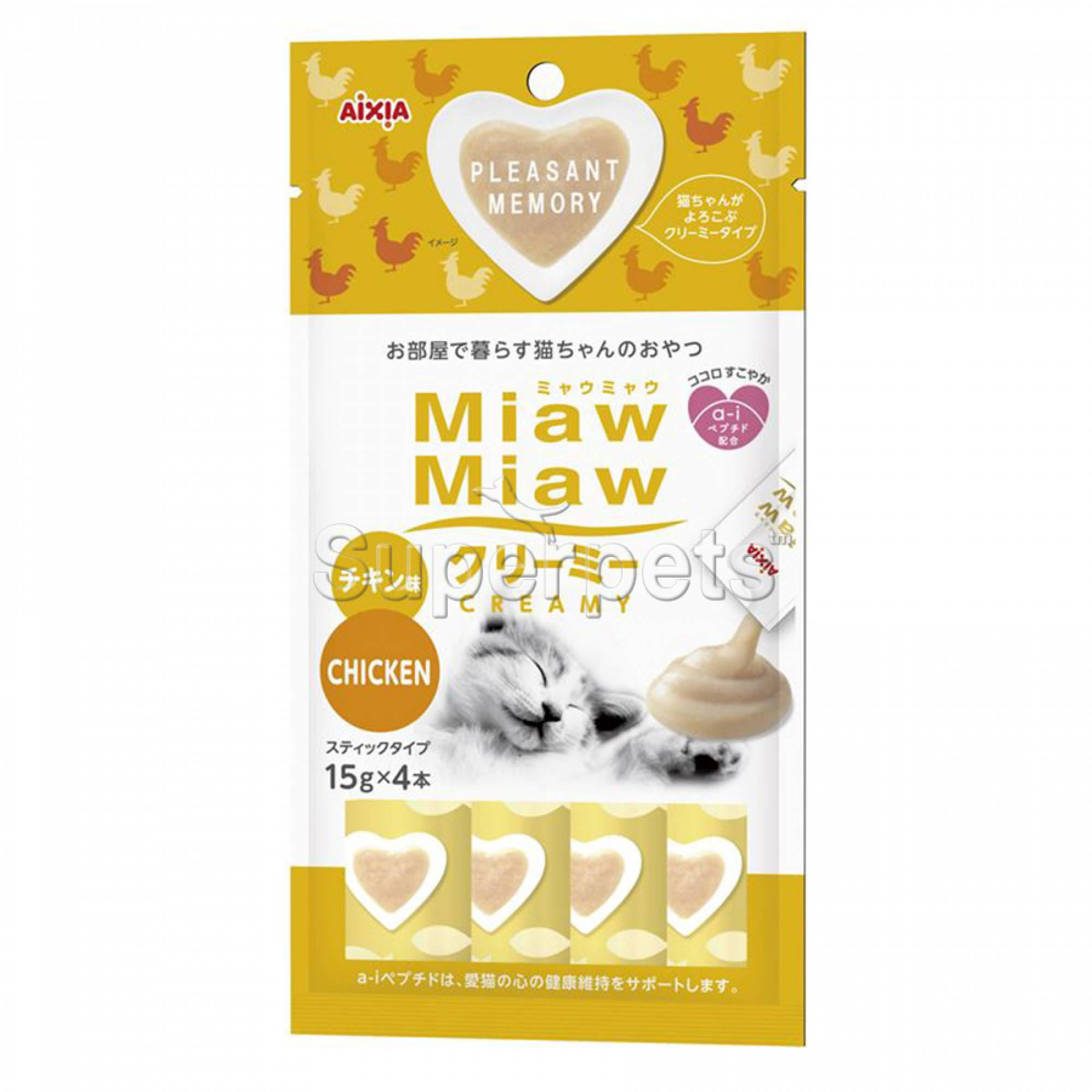 Aixia Miaw Miaw Creamy - Chicken 15g x 4pcs