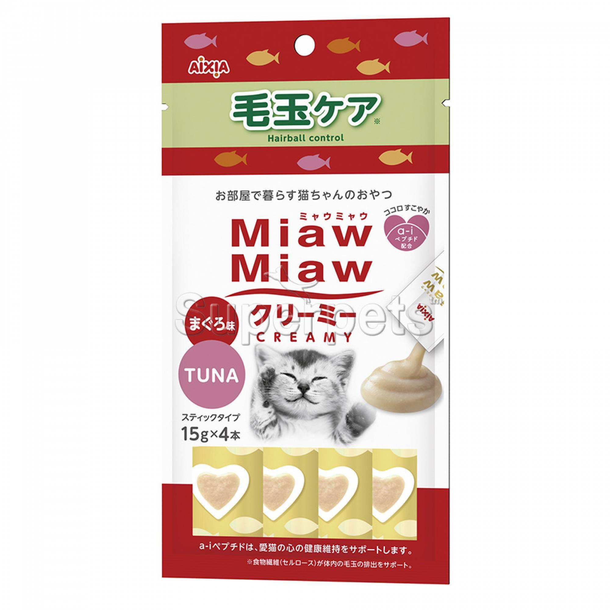 Aixia Miaw Miaw Creamy - Hairball Control 15g x 4pcs