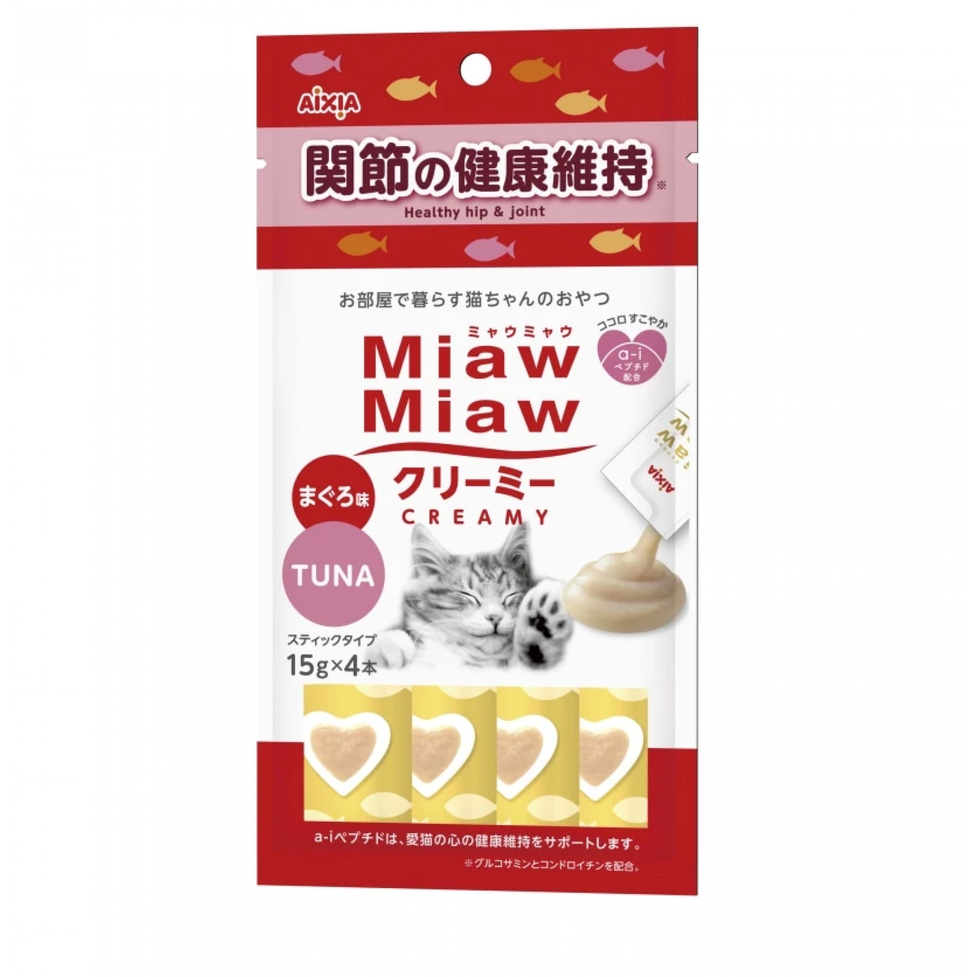 Aixia Miaw Miaw Creamy - Tuna Healthy Hip & Joint 15g x 4pcs