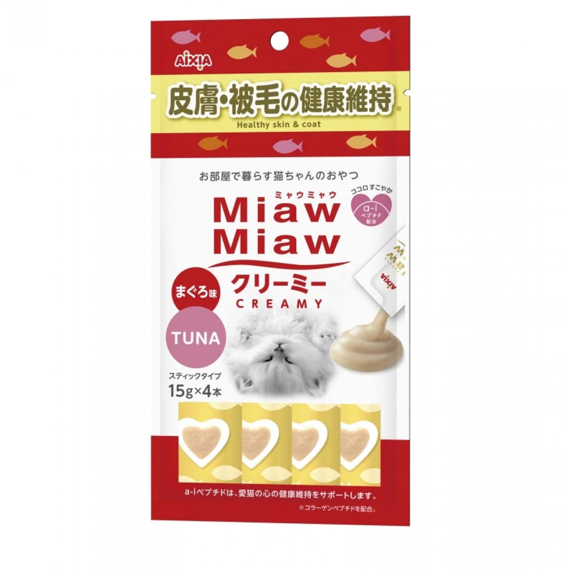 Aixia Miaw Miaw Creamy - Healthy Skin & Coat 15g x 4pcs