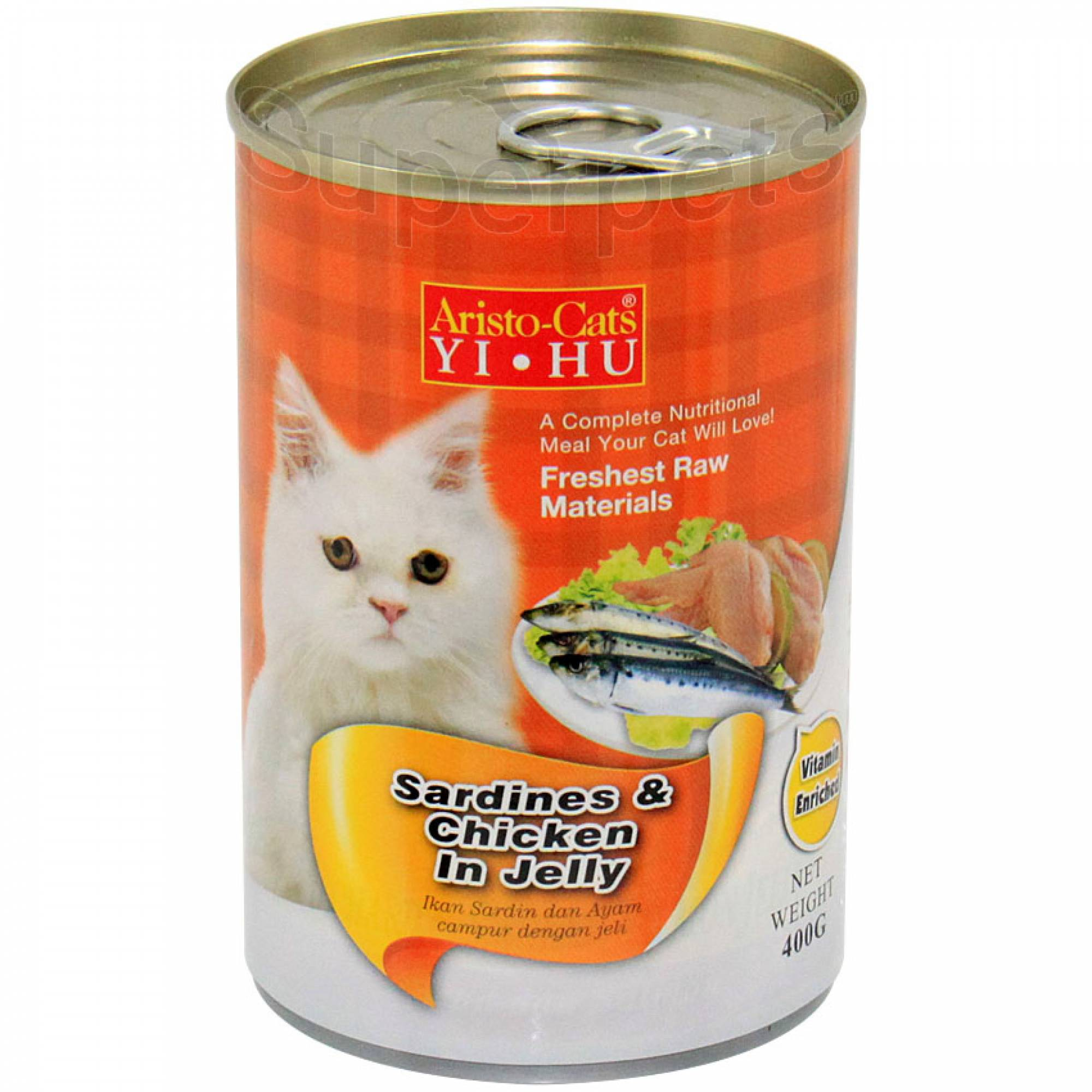 Aristo-Cats - Sardines and Chicken in Jelly 400g x 24pcs (1 carton)