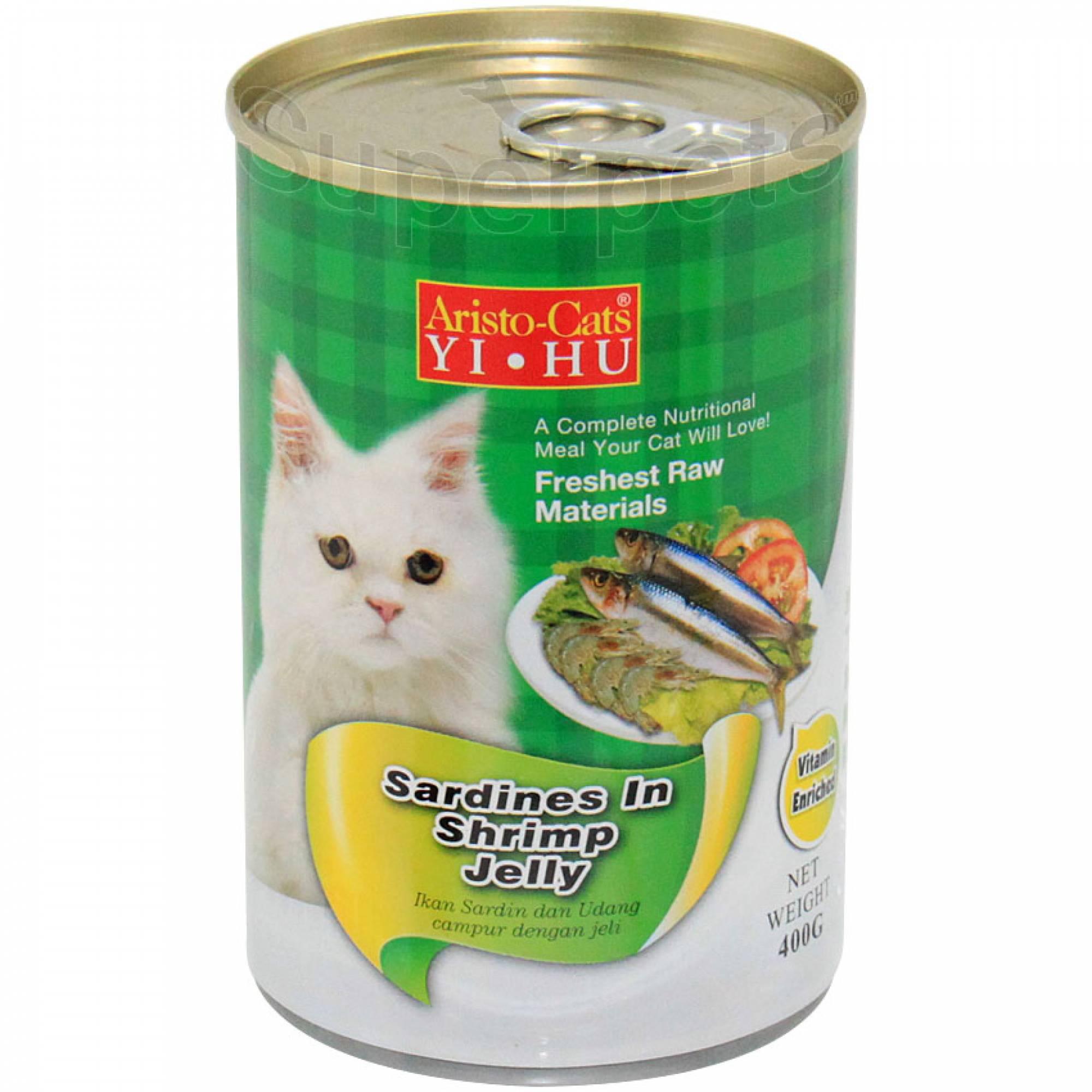 Aristo-Cats - Sardines in Shrimp Jelly 400g x 24pcs (1 carton)