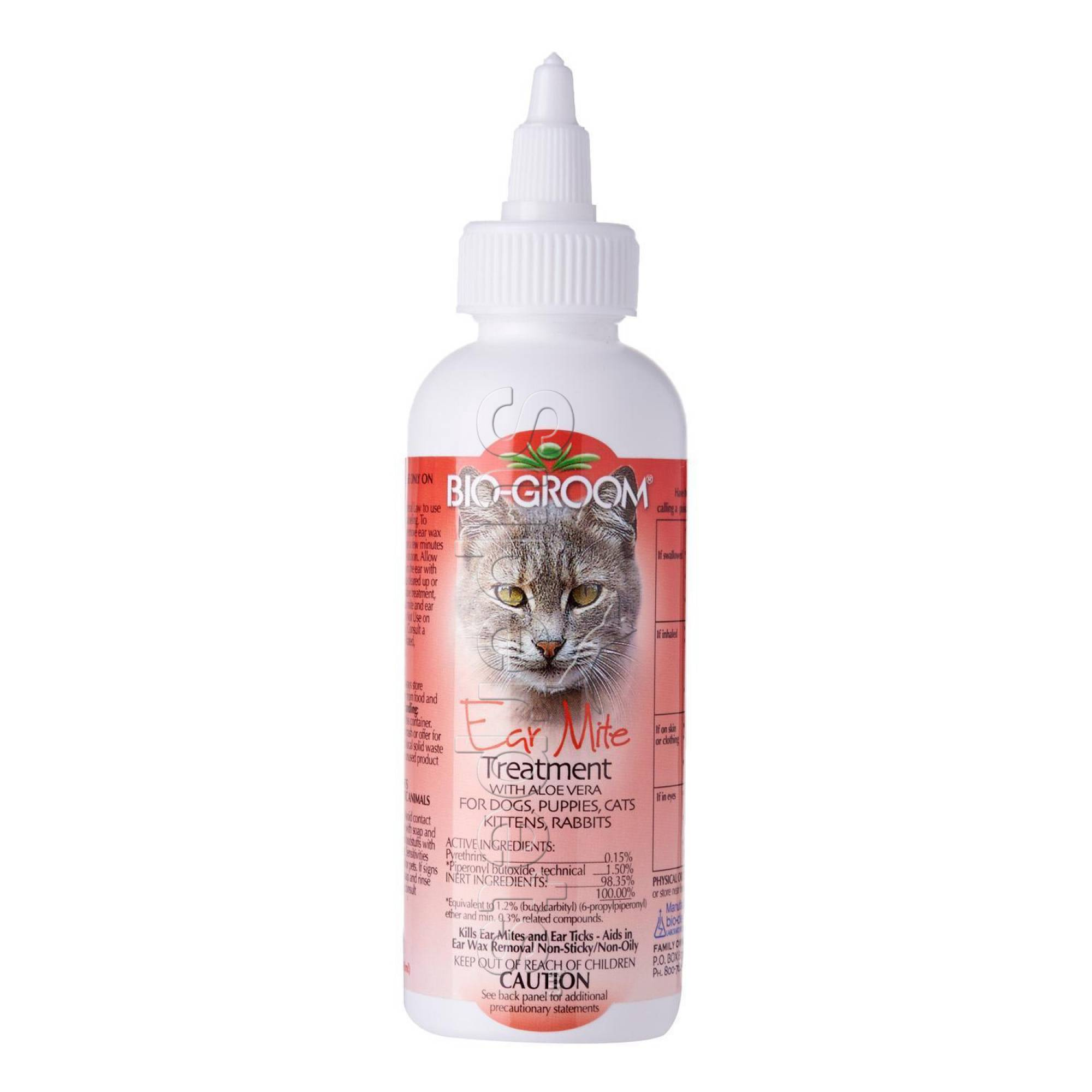 Bio-Groom Ear Mite Treatment with Aloe Vera for Dogs, Puppies, Cats, Kittens, Rabbits 4oz