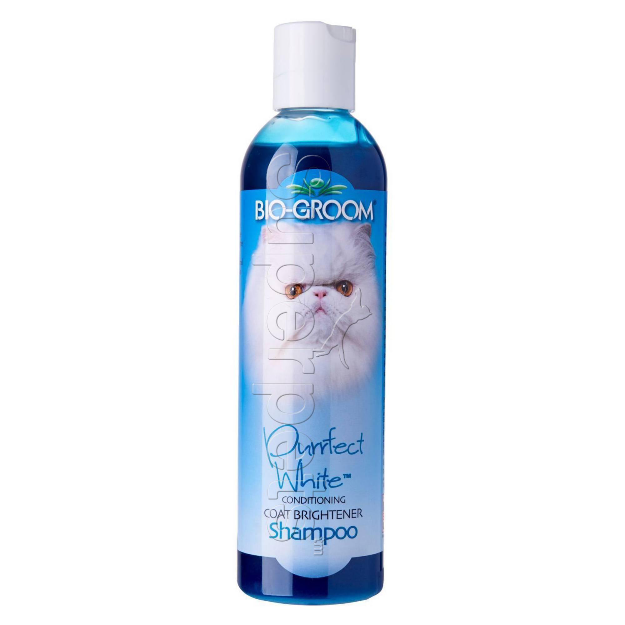 Bio-Groom Purrfect White Conditioning Coat Brightener Shampoo 8oz (236ml)
