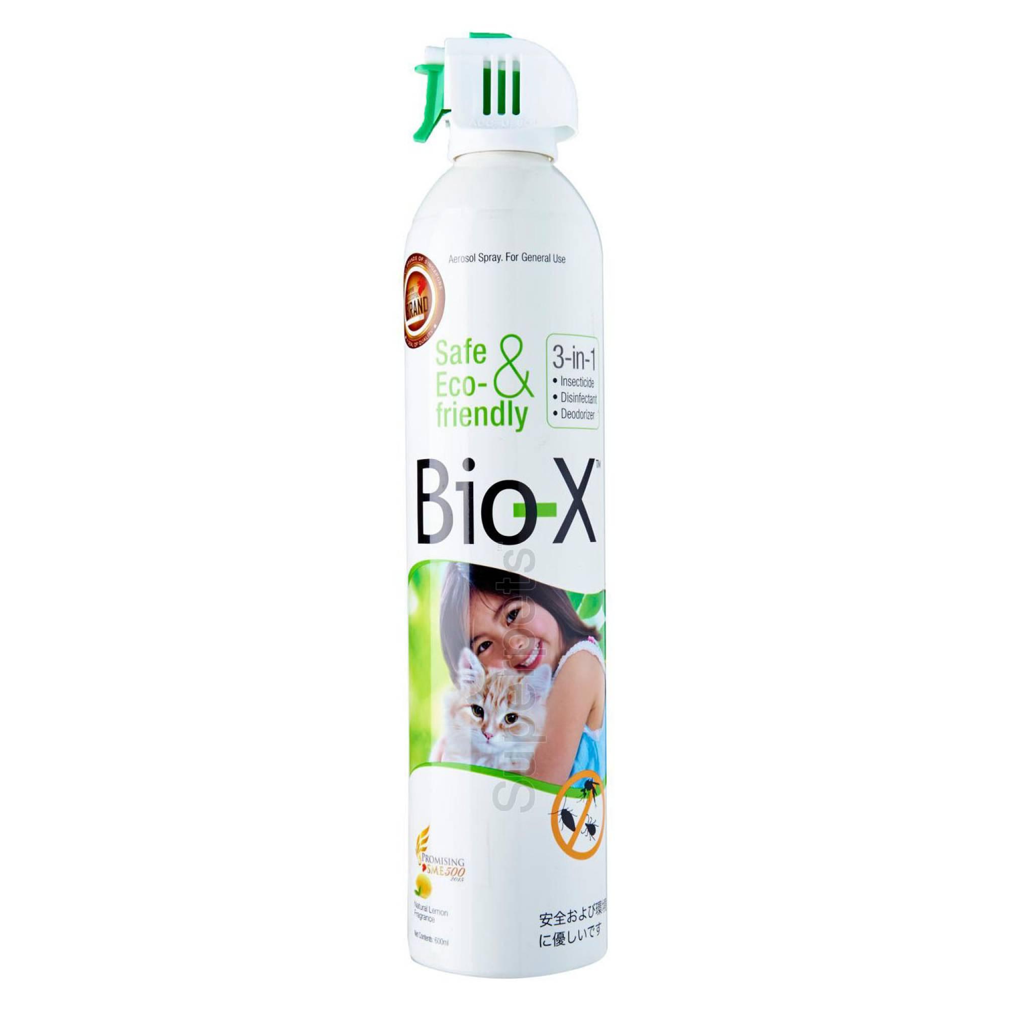 Bio-X 3-in-1 Aerosol Spray - Natural Lemon Fragrance 600ml