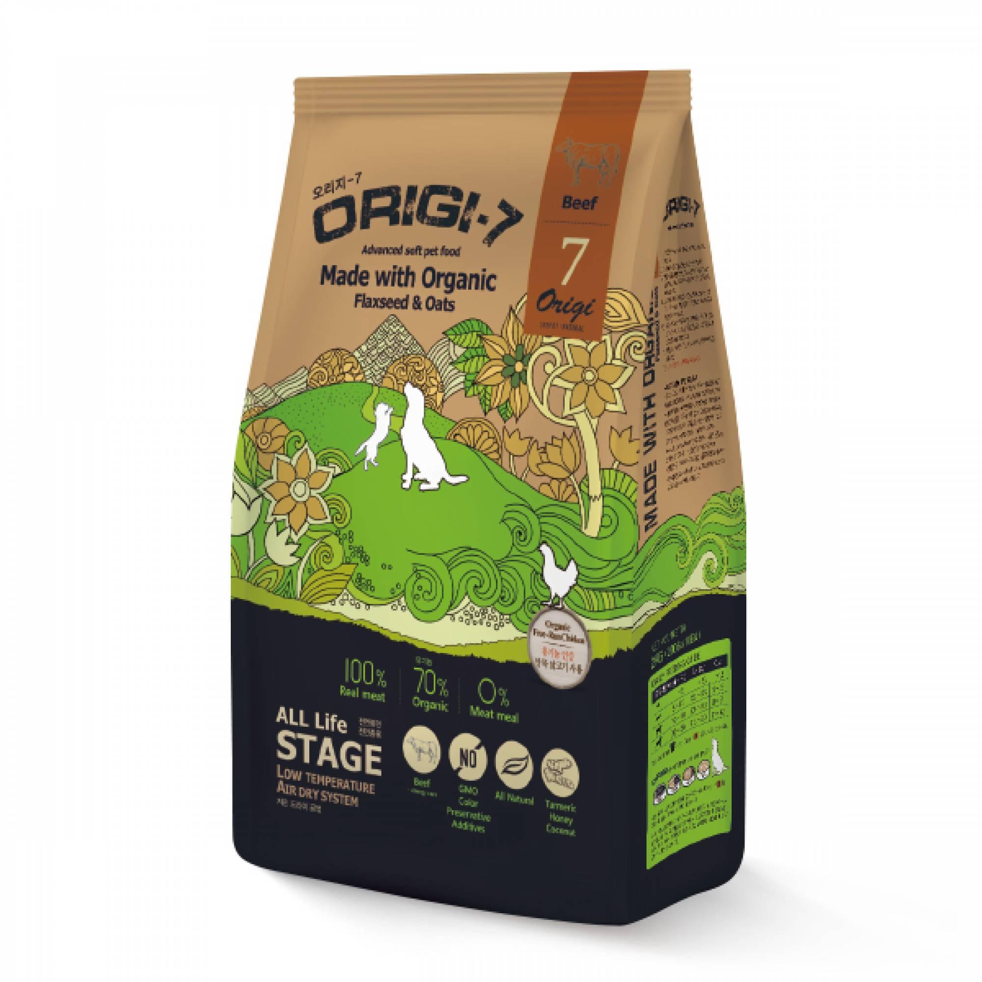 Bow Wow - Dog Origi-7 Air-dried Advanced Soft Pet Food - Beef 1.2kg (200g x 6 bags)