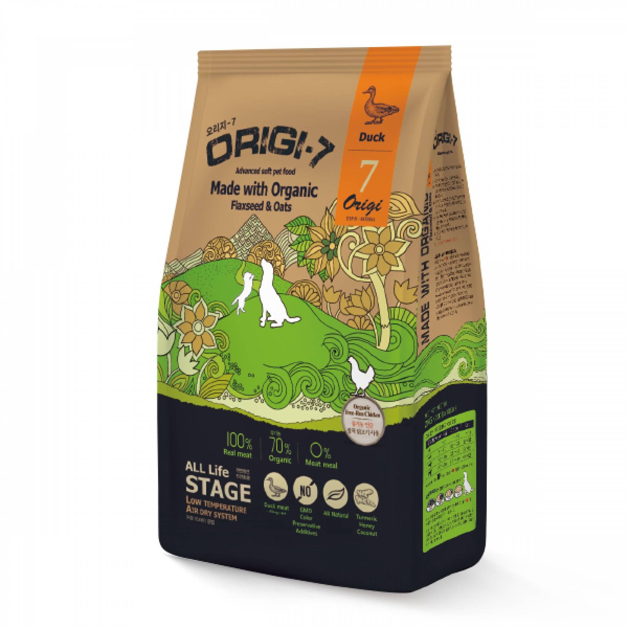 Bow Wow - Dog Origi-7 Air-Dried Advanced Soft Pet Food - Duck 1.2kg (200g x 6 bags)