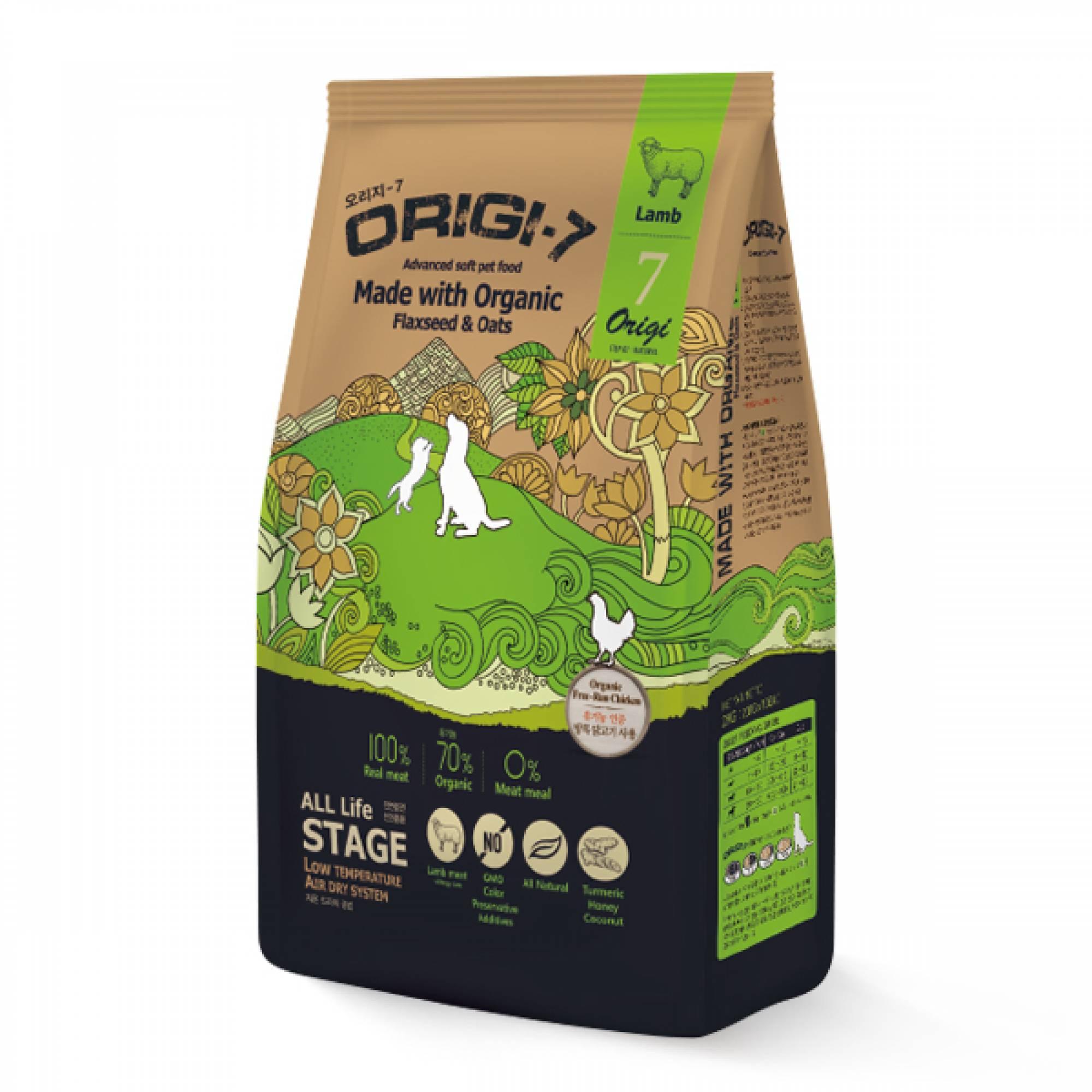 Bow Wow - Dog Origi-7 Air-dried Advanced Soft Pet Food - Lamb 1.2kg (200g x 6 bags)