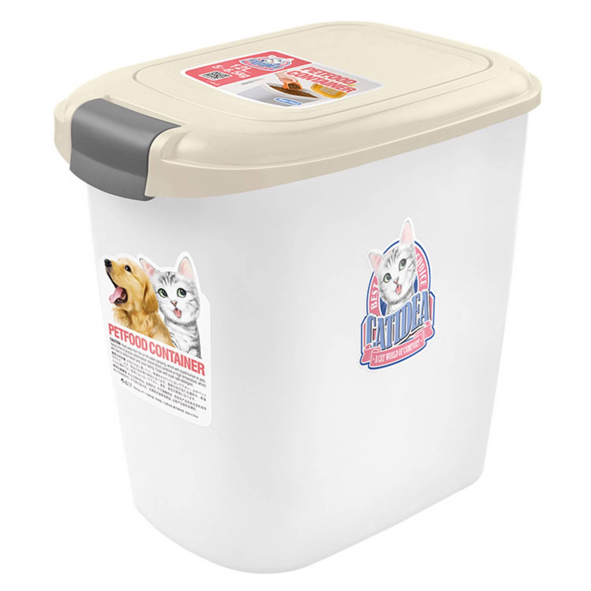 CATIDEA - CF101 Single Open Food Container - 15kg Cream