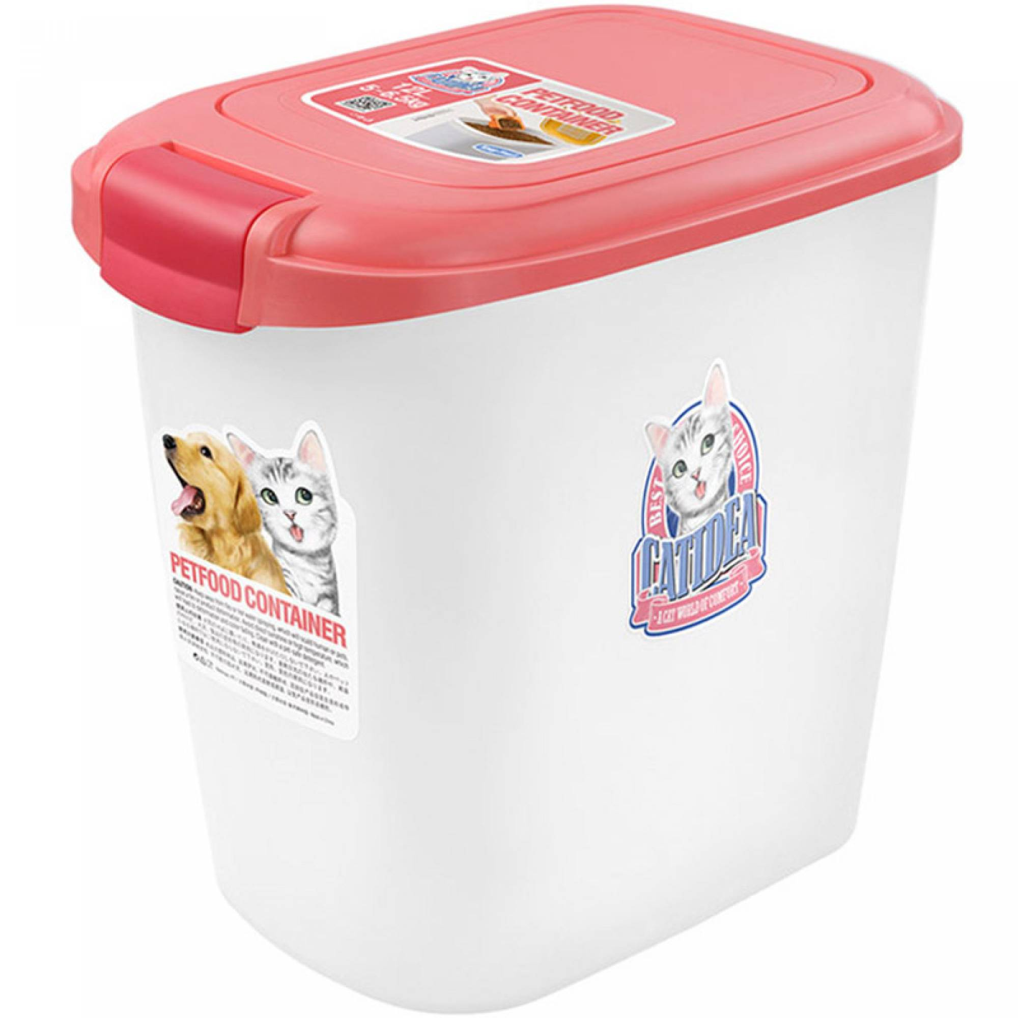 CATIDEA - CF101 Single Open Food Container - 15kg Pink
