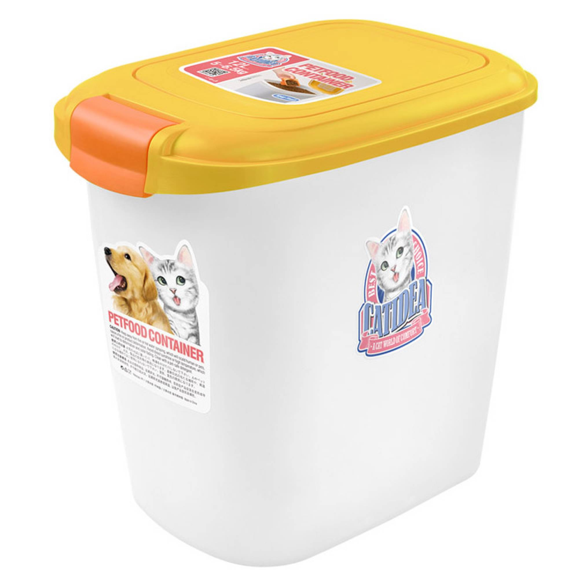 CATIDEA - CF101 Single Open Food Container - 15kg Yellow
