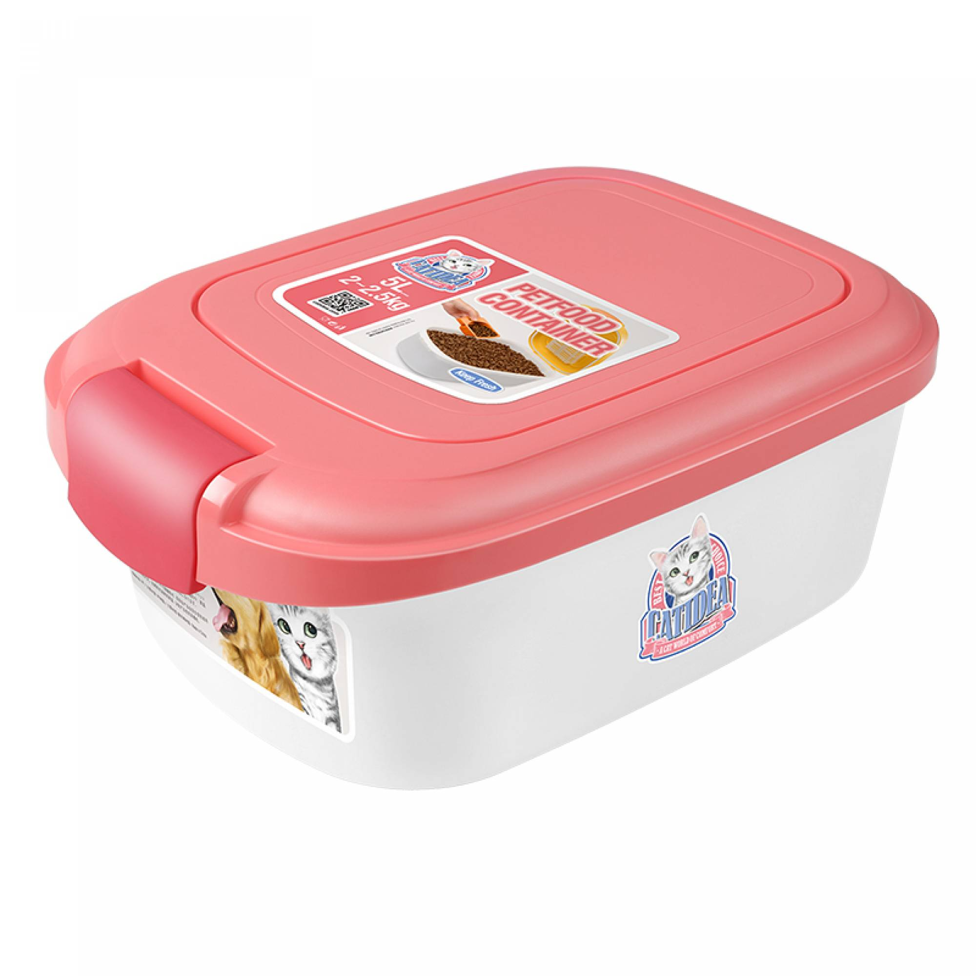 CATIDEA - CF101 Single Open Food Container - 2kg Pink