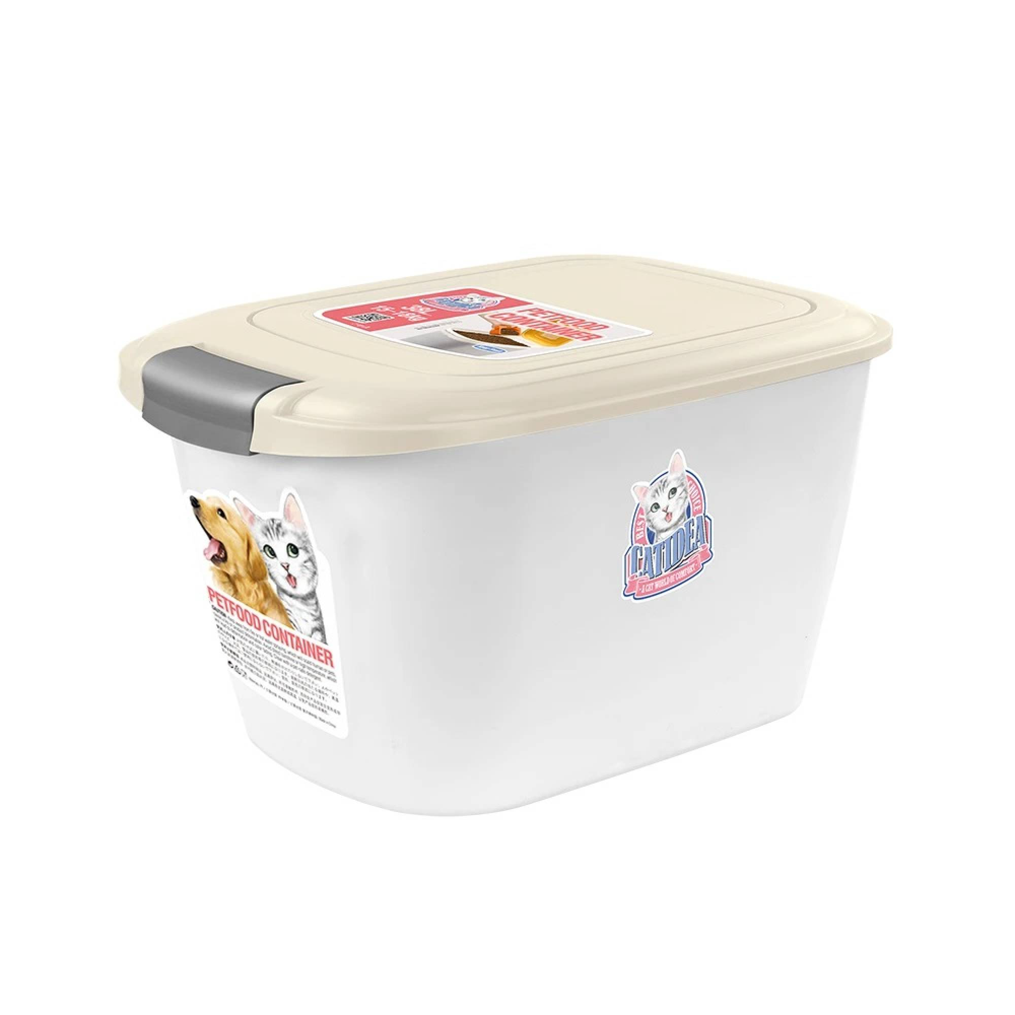 CATIDEA - CF101 Single Open Food Container - 5kg Cream