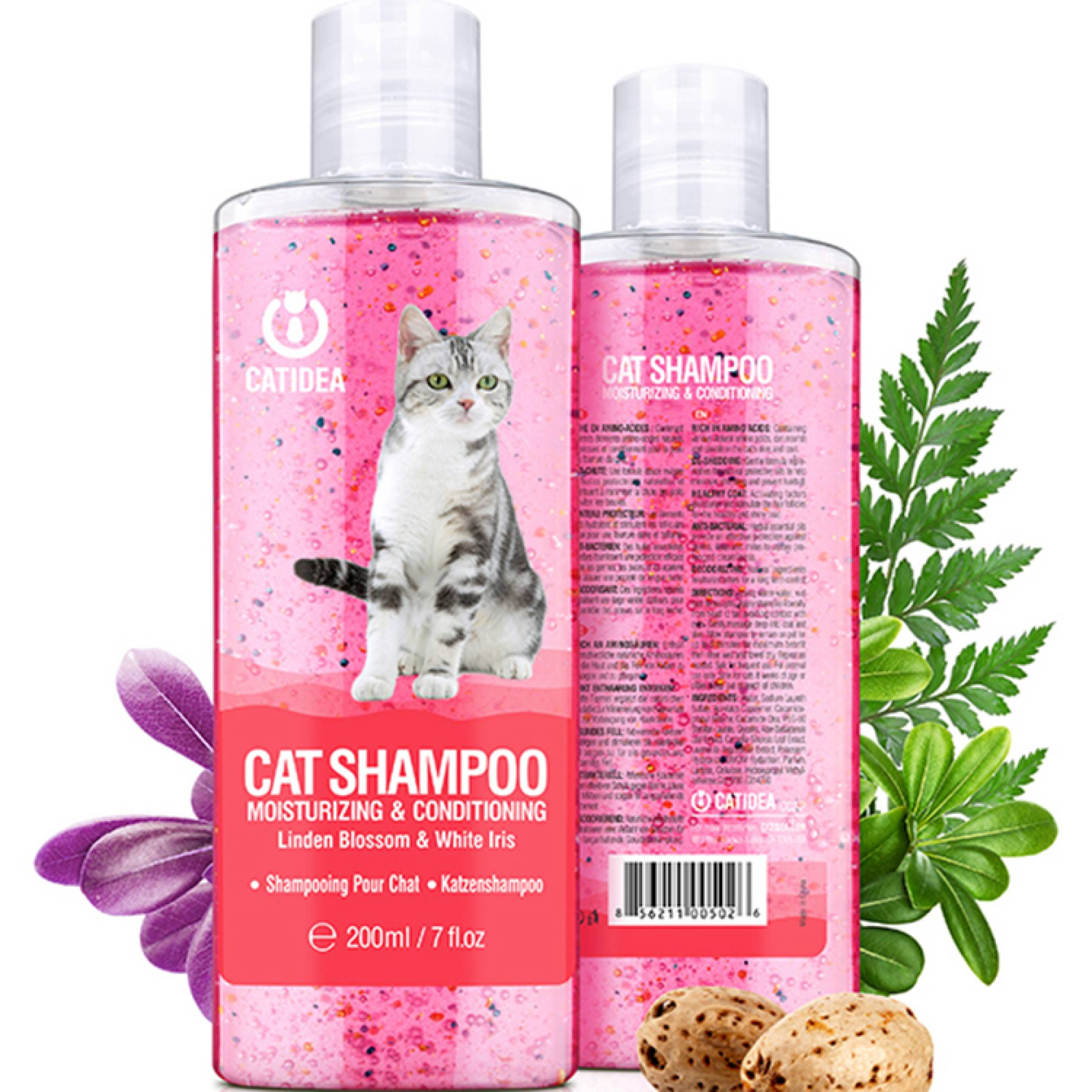 CATIDEA - CC2 Cat Shampoo Moisturizing & Conditioning 200ml - Linden Blossom & White Iris
