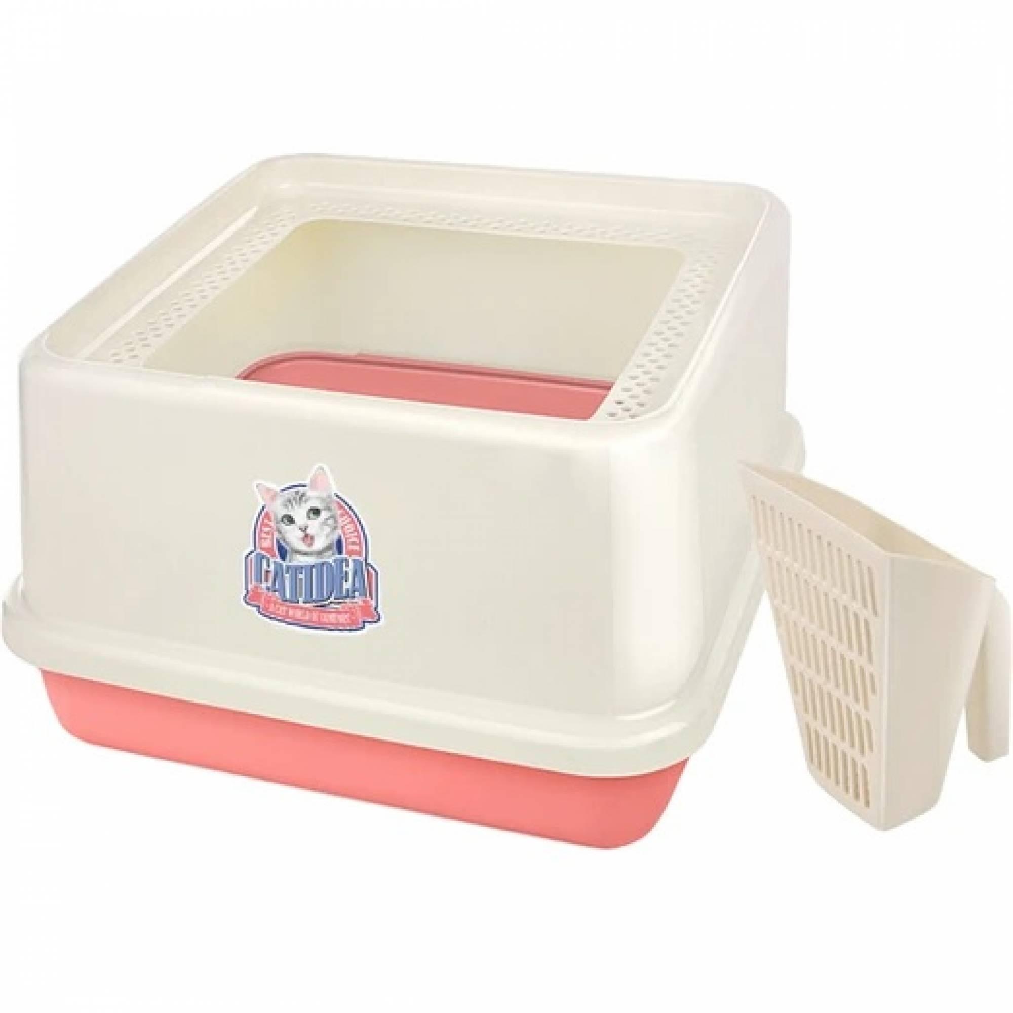 CATIDEA - CL201 Corner Top Entry Cat Litter Box - Pink