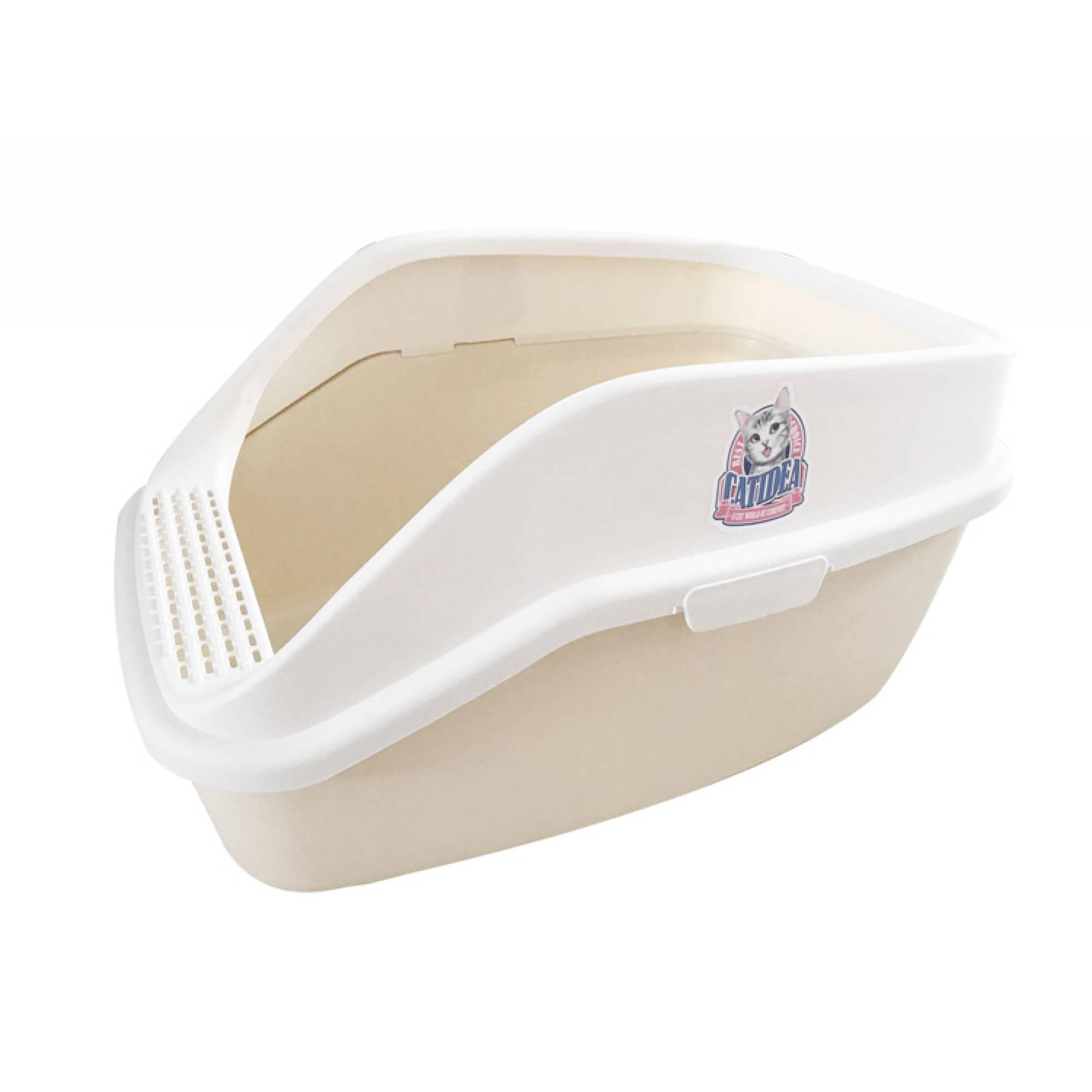 CATIDEA - CL221 Luxury Shark Cat Litter Box - Cream