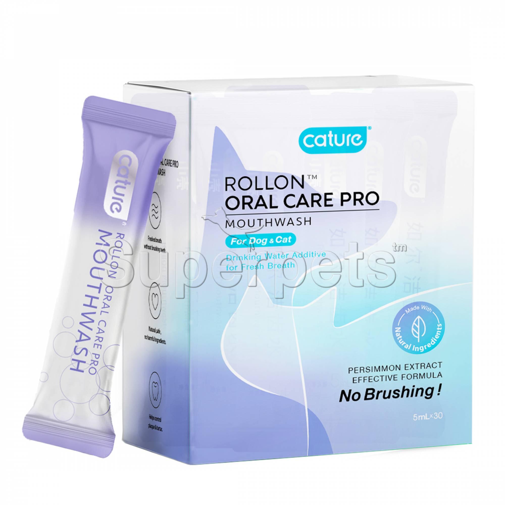 Cature Rollon Oral Care Pro Mouthwash for Dog & Cat 30x5ml