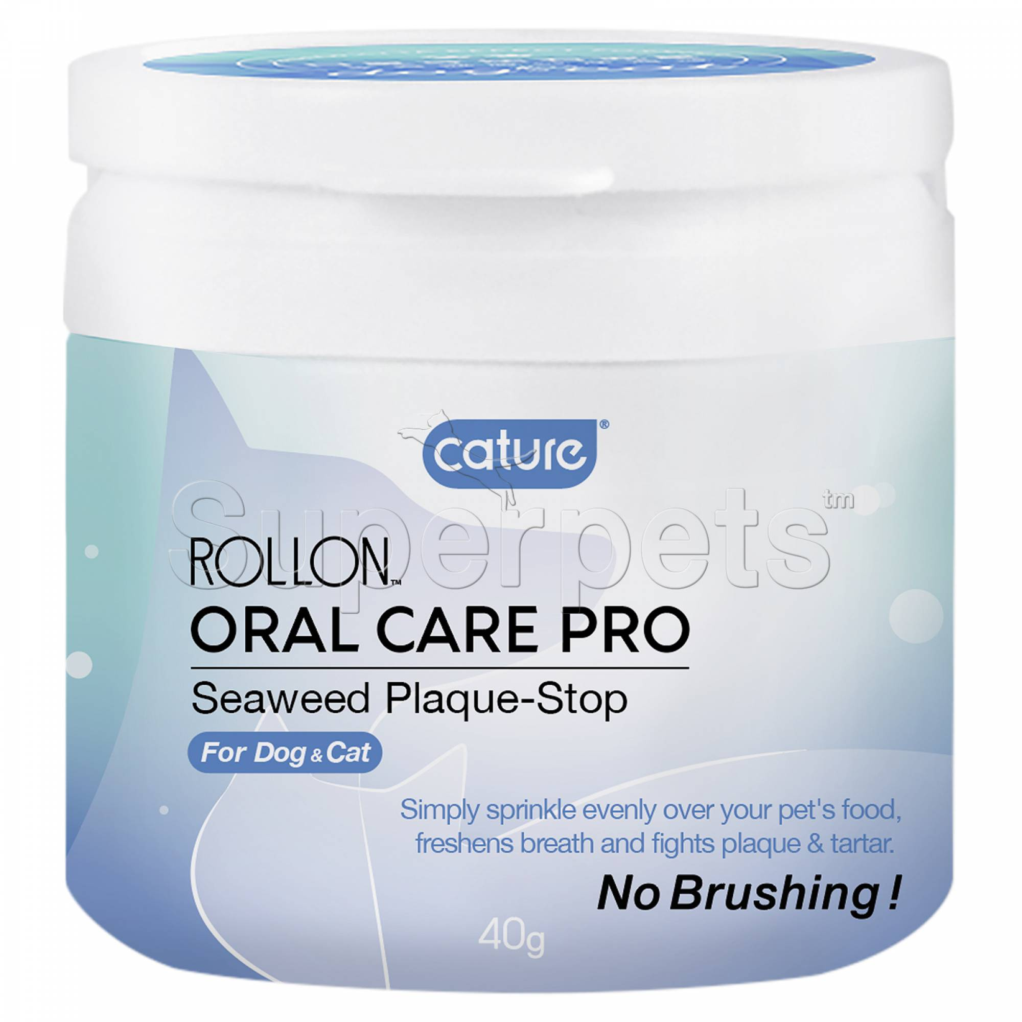 Cature Rollon Oral Care Pro Seaweed Plaque-Stop for Dog & Cat 40g (short expiry 14-Nov)