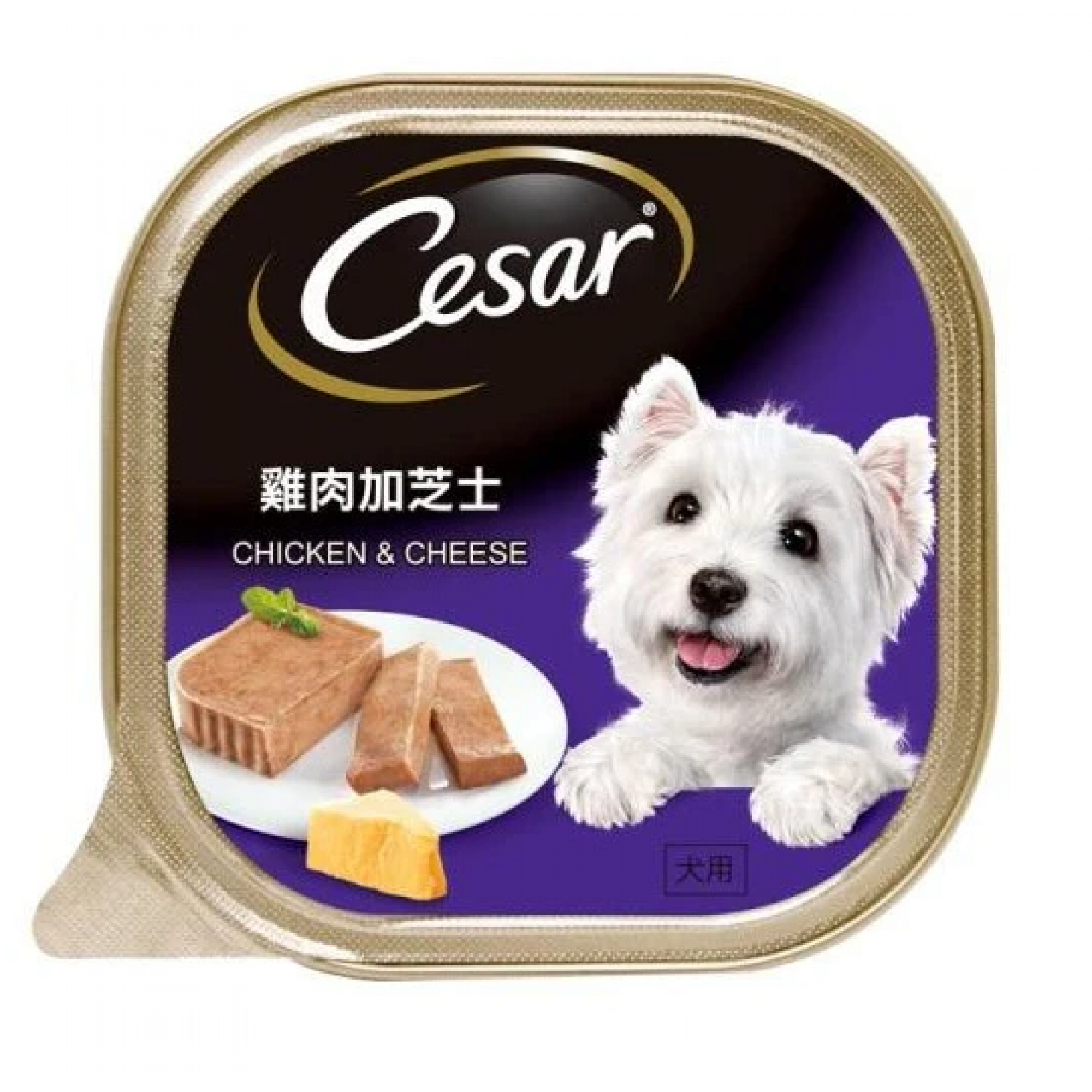 Cesar - Chicken & Cheese Pate Dog Food 100g