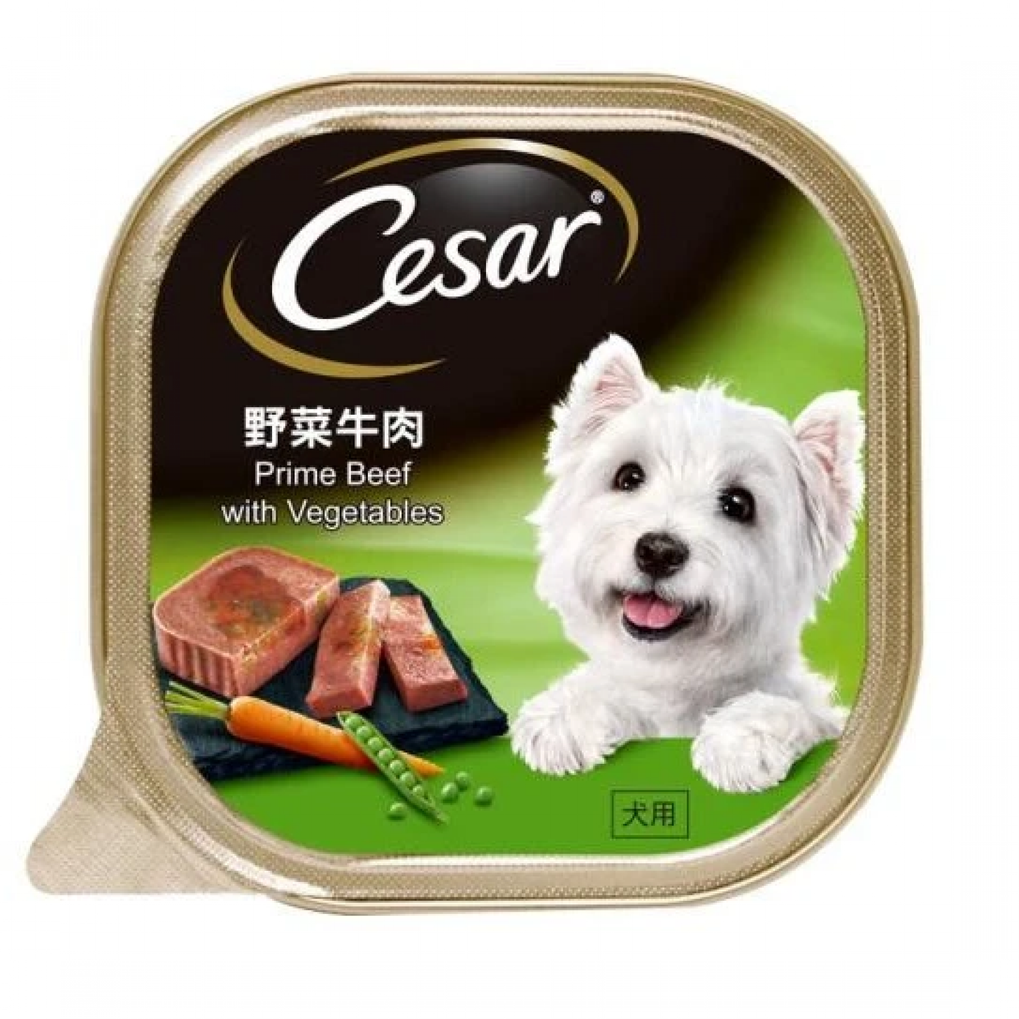 Cesar - Prime Beef with Vegetables Pate Dog Food 100g