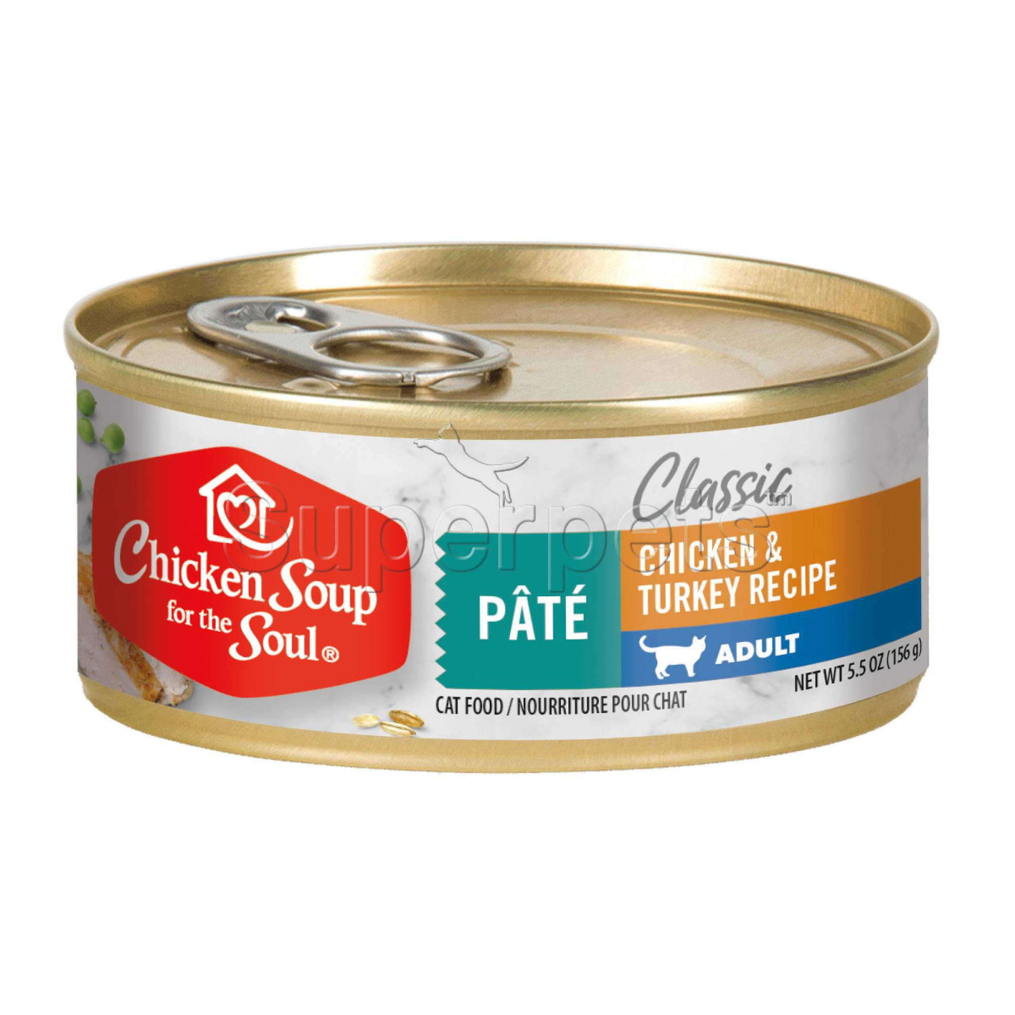 Chicken Soup for the Soul Cat Classic Pate 156g Adult Chicken & Turkey Recipe