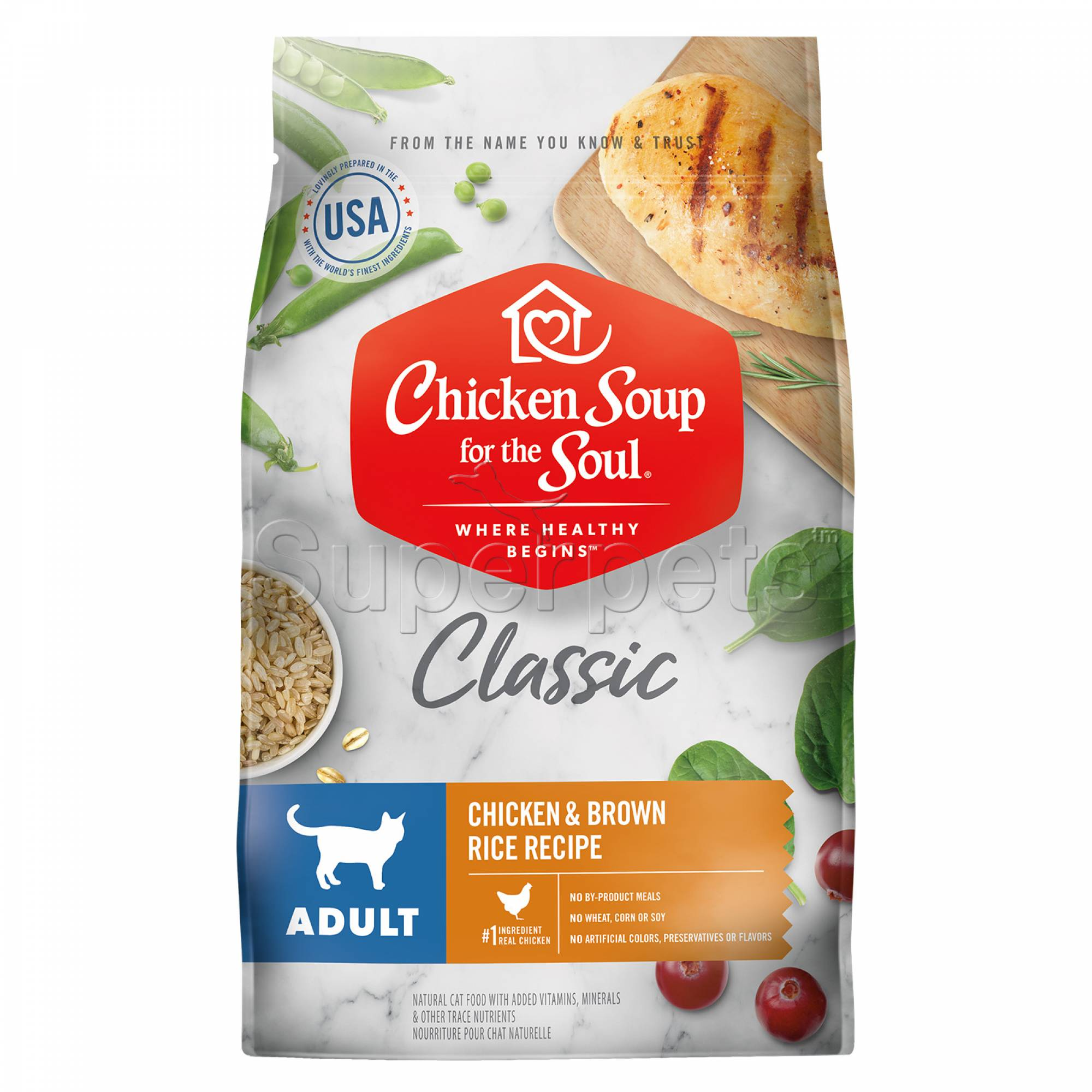 Chicken Soup for the Soul Cat Dry Classic Adult Chicken & Brown Rice Recipe 13.5lb