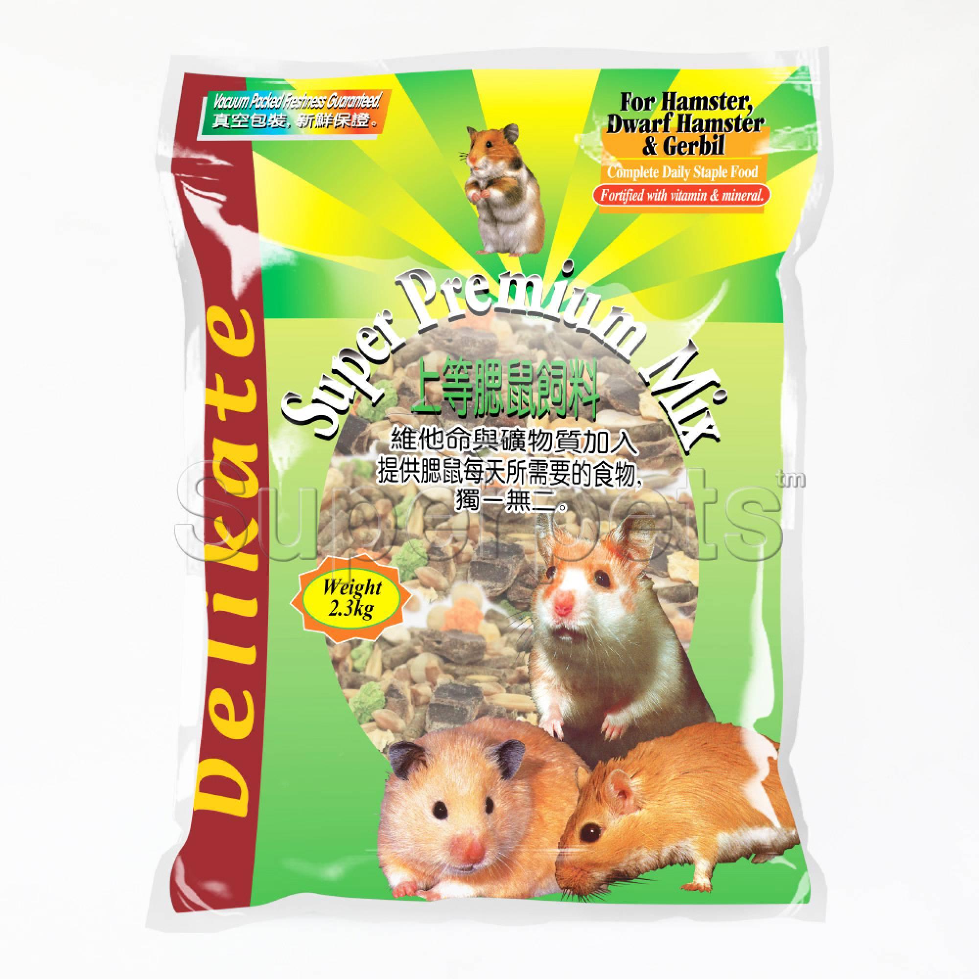 Delikate Super Premium Mix For Hamster & Gerbil 2.3kg