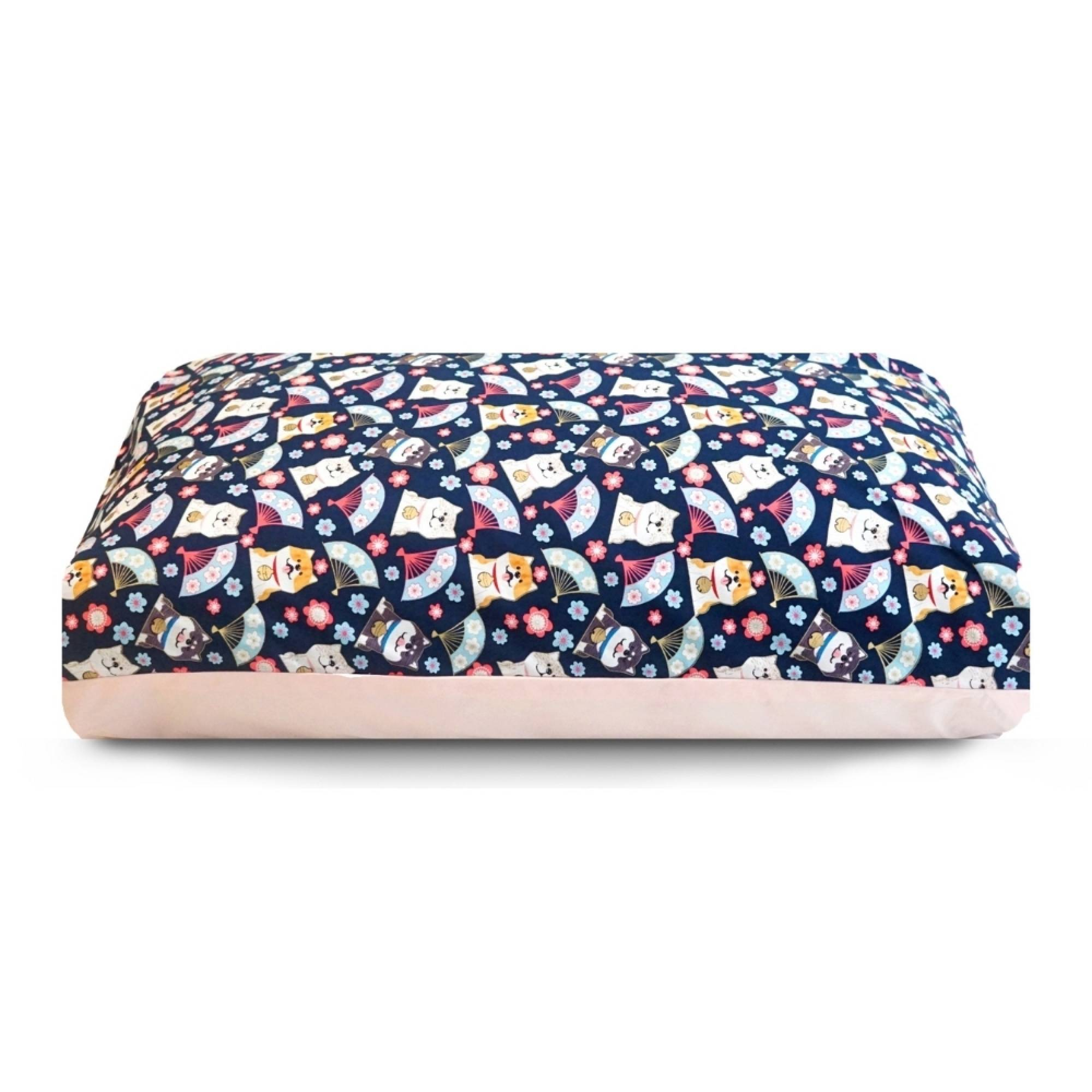 Dreamcastle Dog Bed - Shiba in Blue and Pink