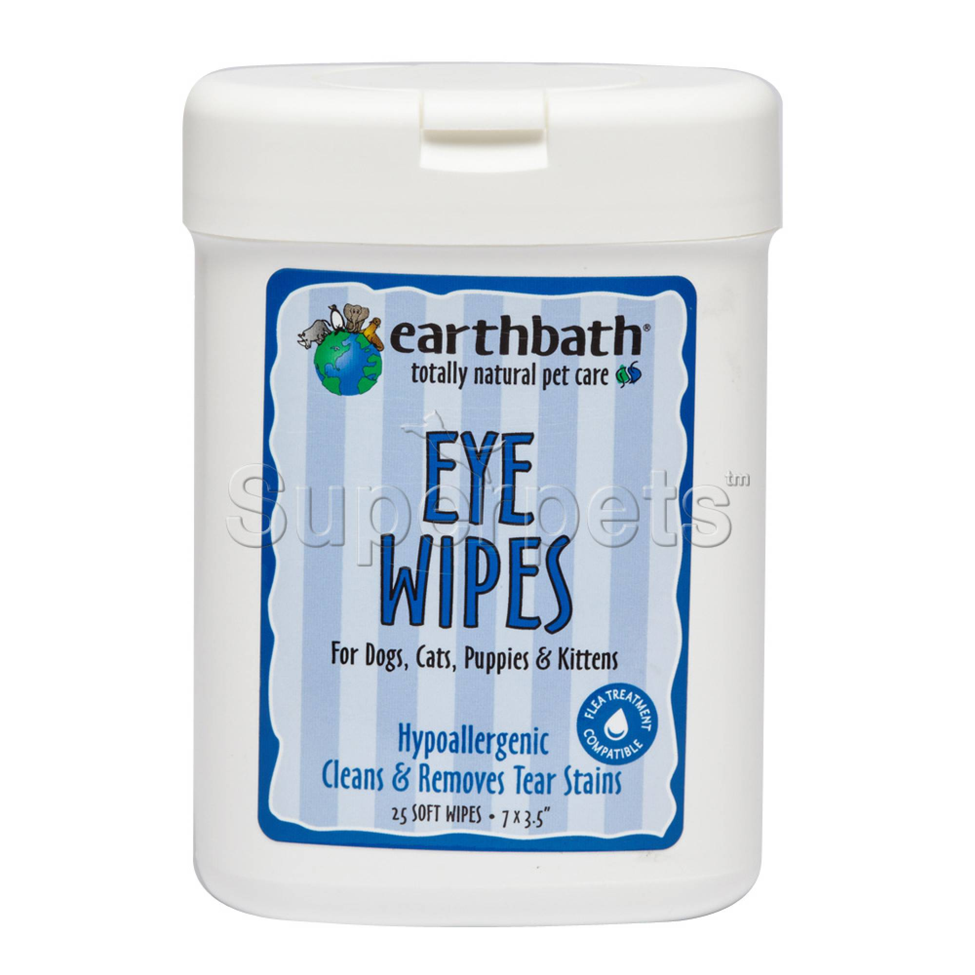 Earthbath EB040 Eye Wipes for Dogs, Cats & Kittens x25pcs