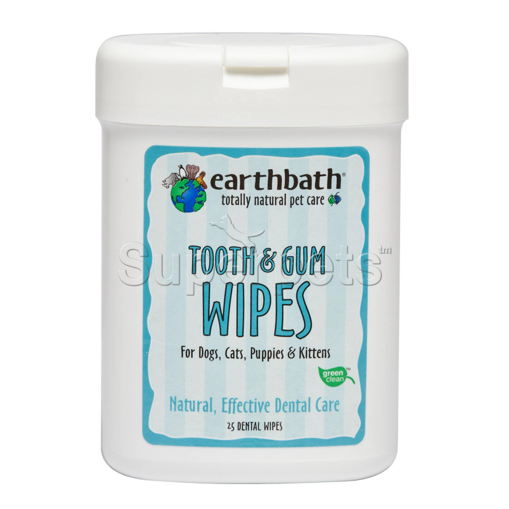 Earthbath EB042 Tooth & Gum Wipes x25pcs