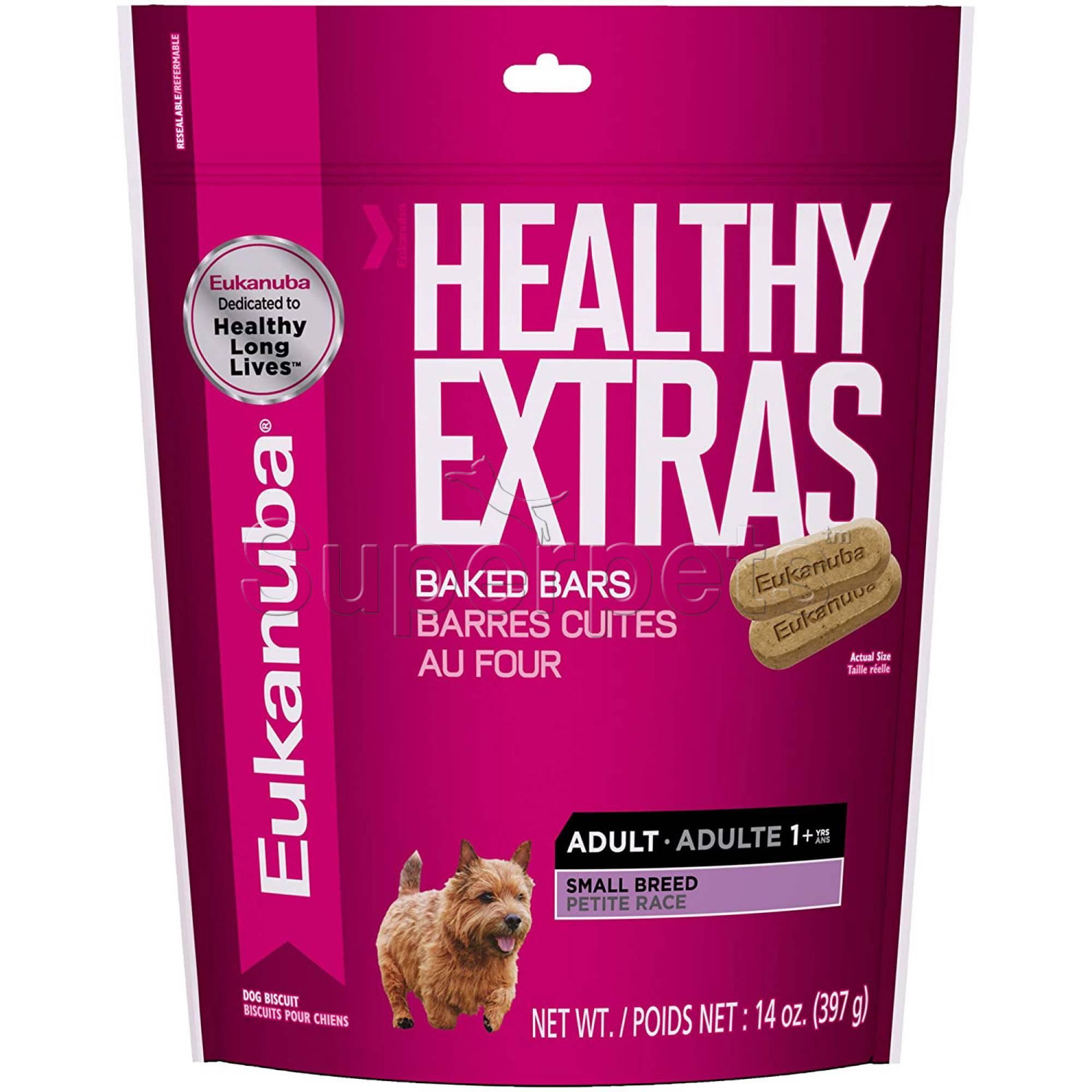 Eukanuba - Healthy Extras Baked Bars Adult Small Breed Treats 14oz (397g) (Short Expiry Product)