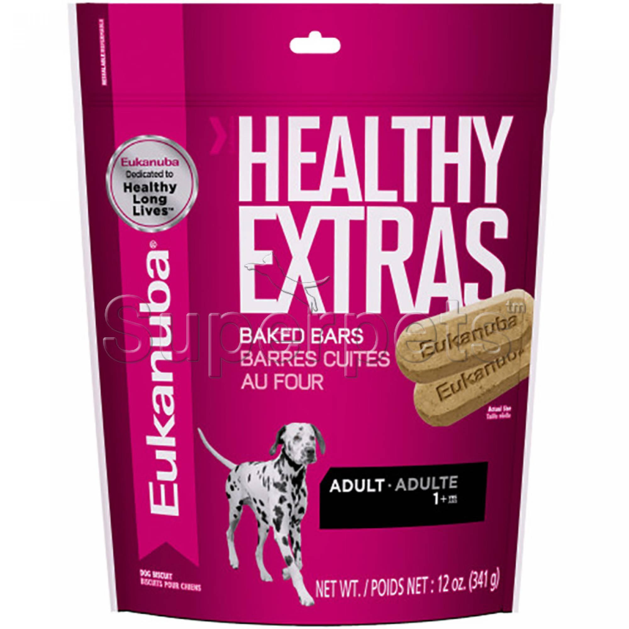 Eukanuba - Healthy Extras Baked Bars Adult Treats 12oz (341g) (Short Expiry Product)
