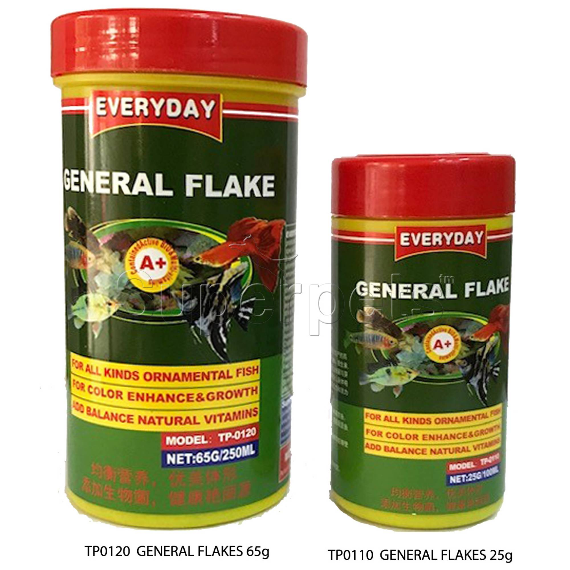 Everyday General Flakes Fish Food 65g (TP0120)