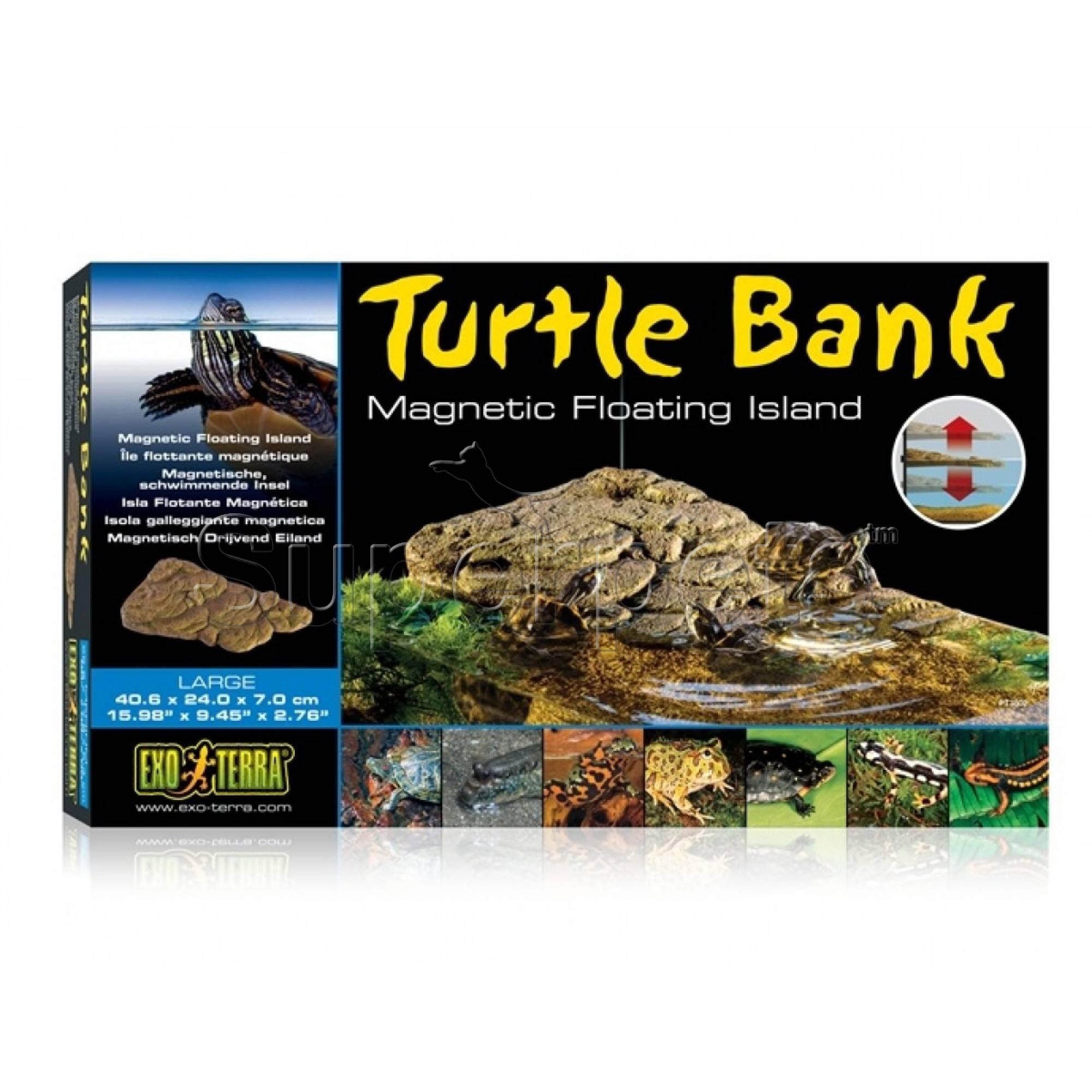 Exo Terra PT3802 Turtle Bank Magnetic Floating Island Large 40x24x7cm