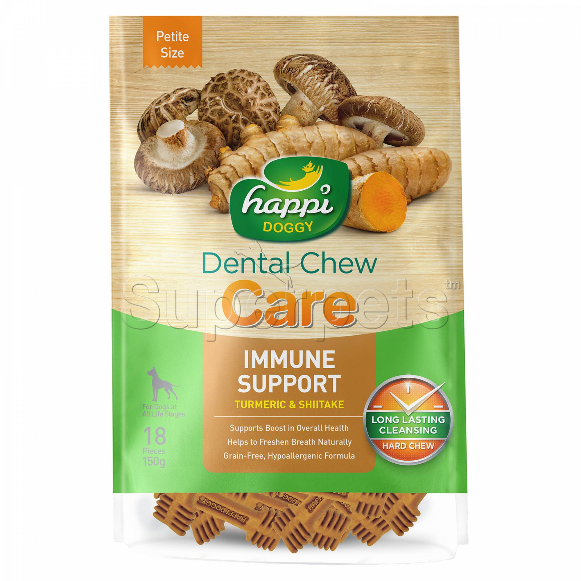 Happi Doggy H311 Dental Chew Care (Immune Support) Petite Size 18pcs 150g