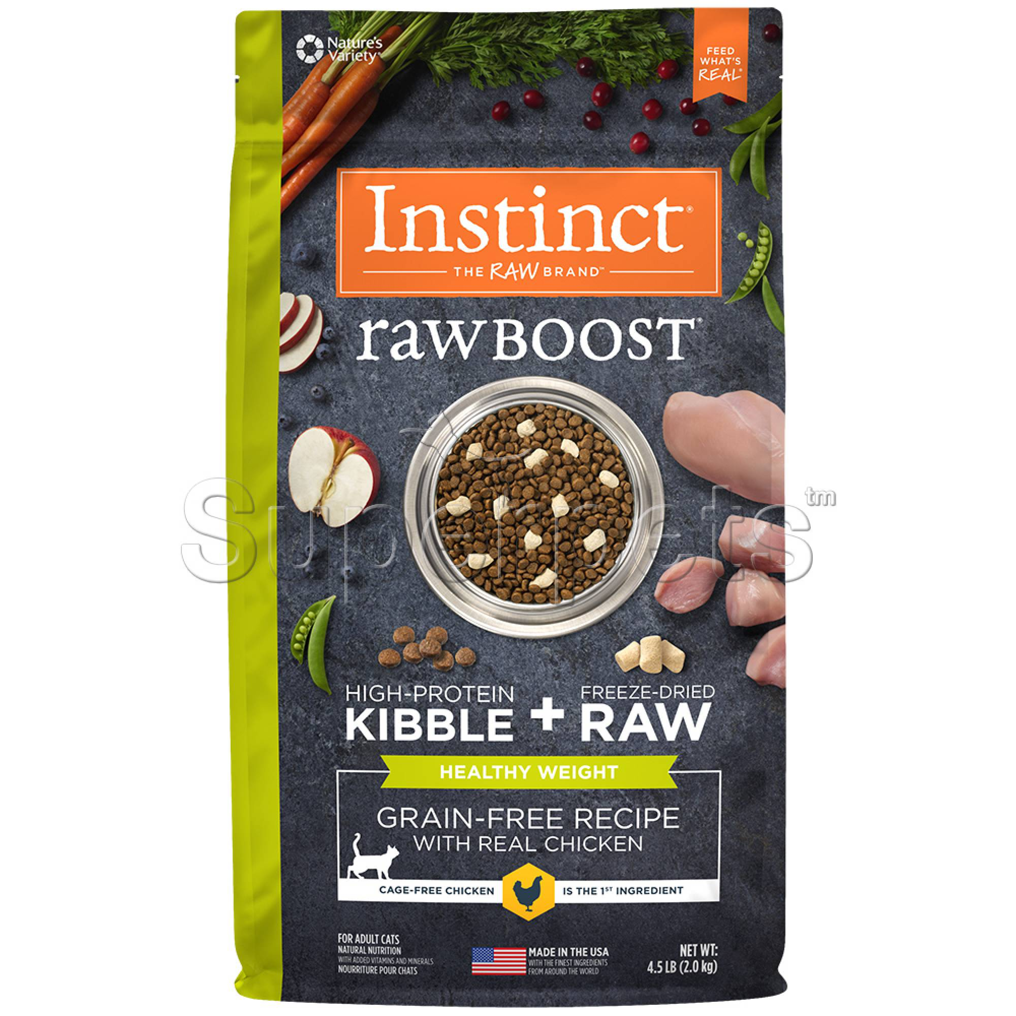 Instinct - Cat Raw Boost Free-Dried Grain-Free Recipe with Real Chicken (Healthy Weight) 4.5lb (2kg)