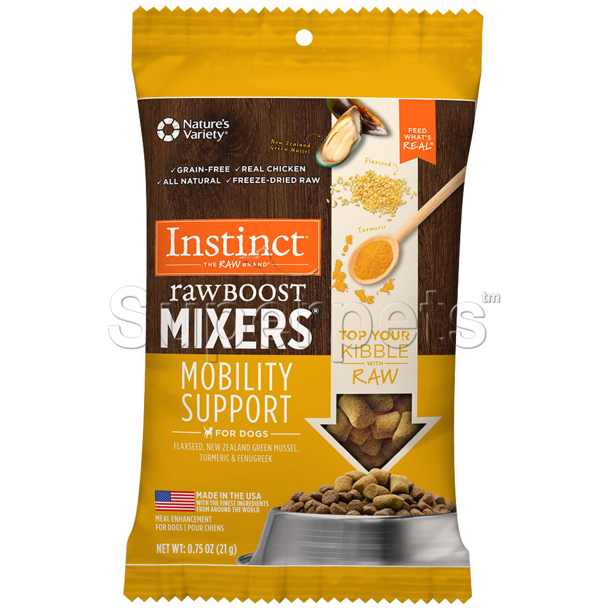 Instinct - Dog Freeze-Dried Raw Boost Mixers Grain-Free Mobility Support 0.75oz (21g)