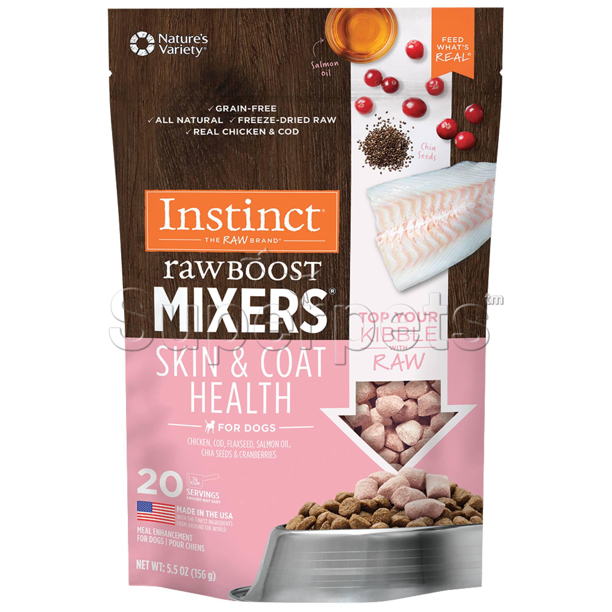 Instinct - Dog Freeze-Dried Raw Boost Mixers Grain-Free Skin & Coat 5.5oz (156g)