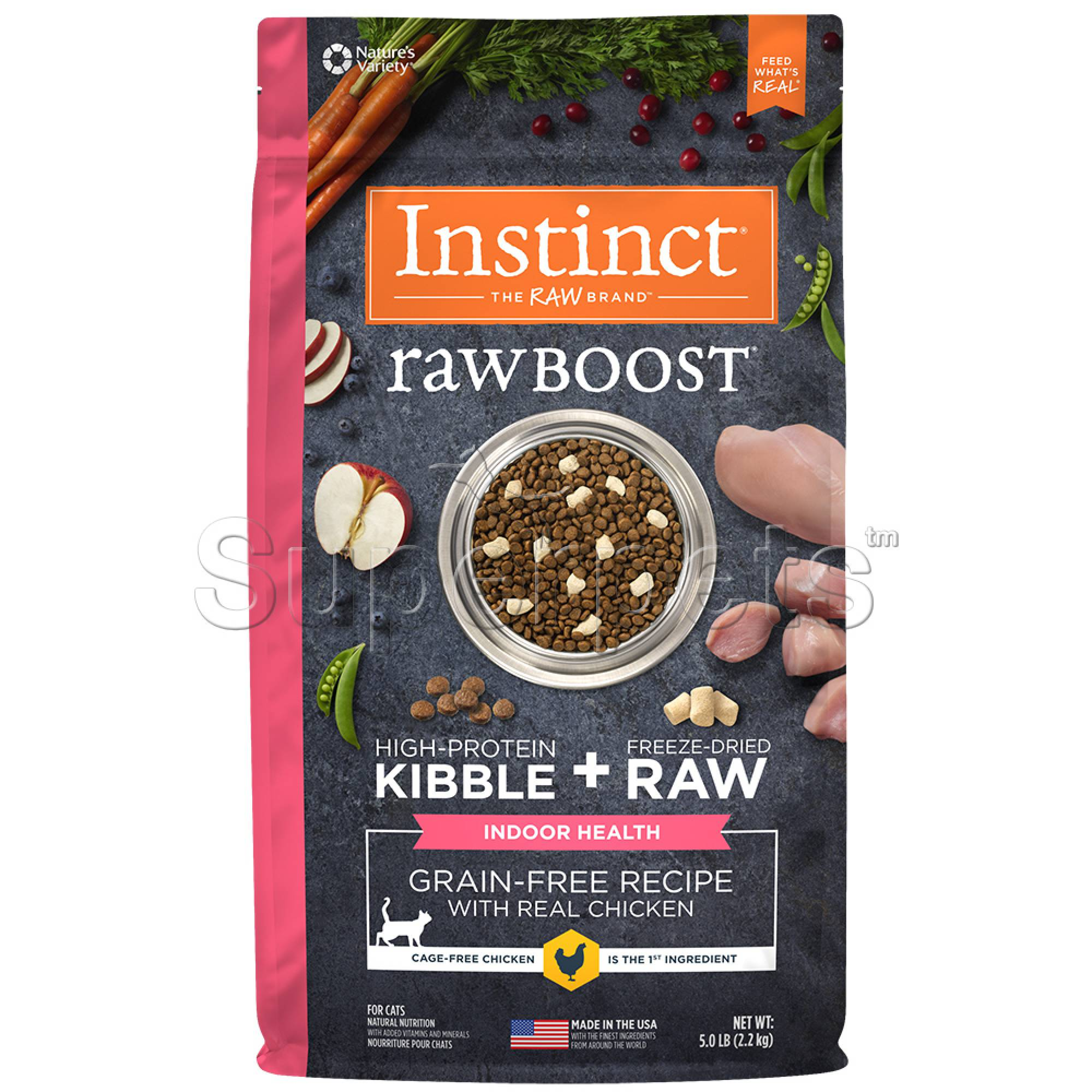 Instinct - Cat Raw Boost Indoor Health Recipe with Real Chicken 5lb (2.2kg)