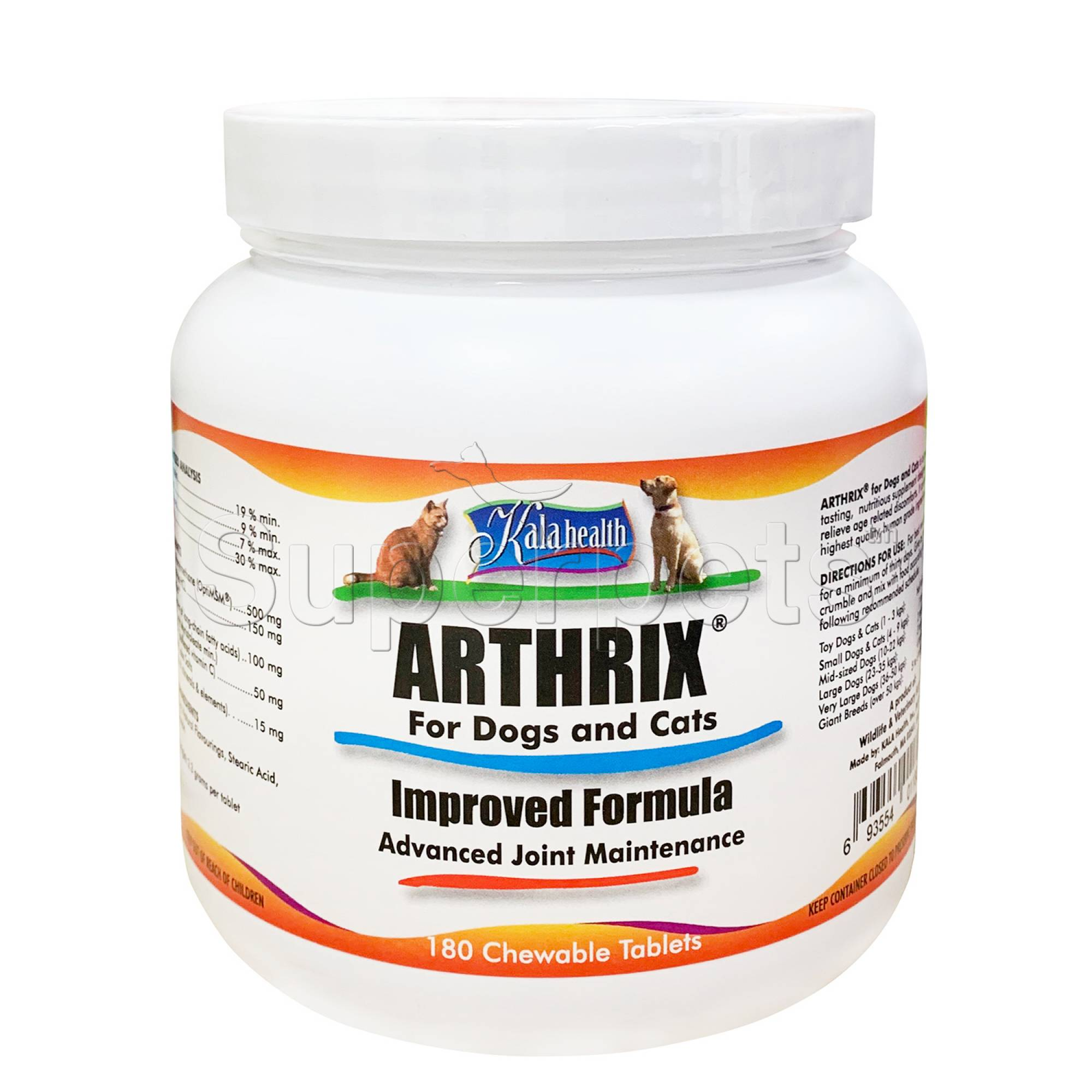 Kala Health - Arthrix for Dogs and Cats 180 Tablets