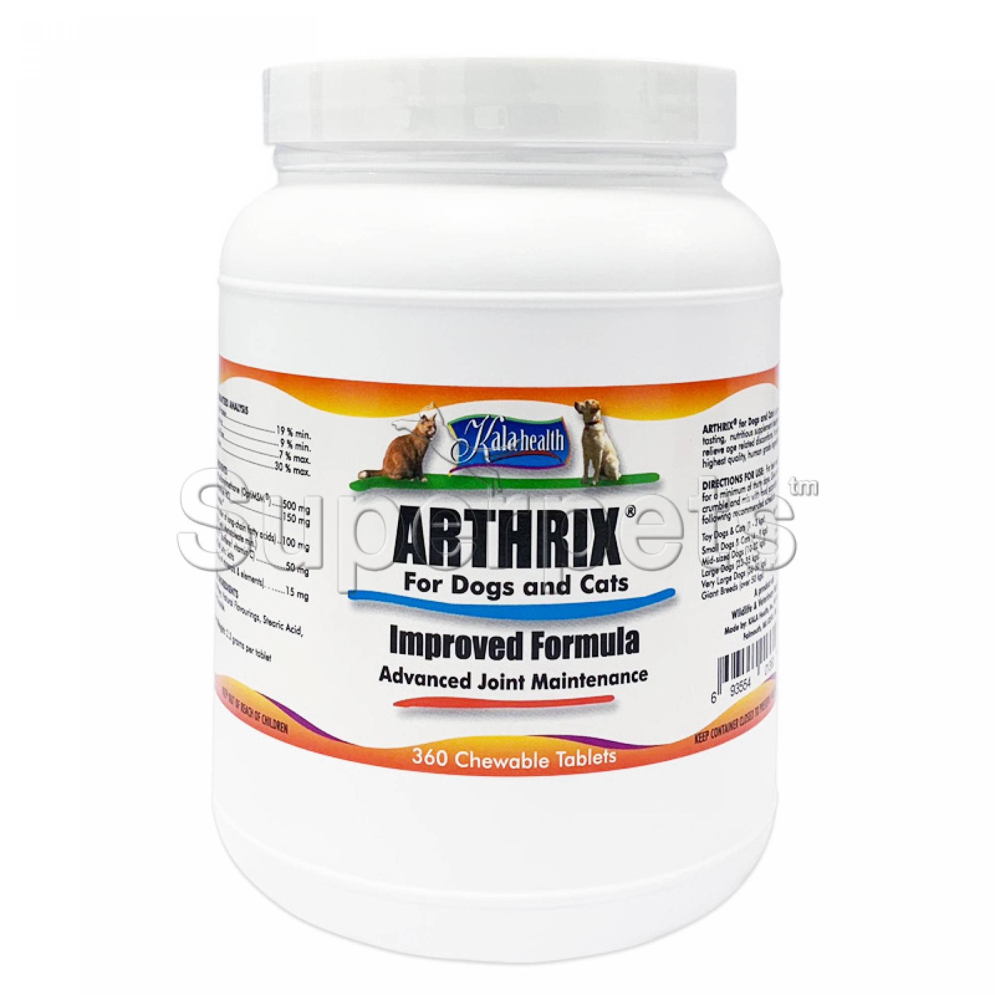 Kala Health - Arthrix for Dogs and Cats 360 Tablets