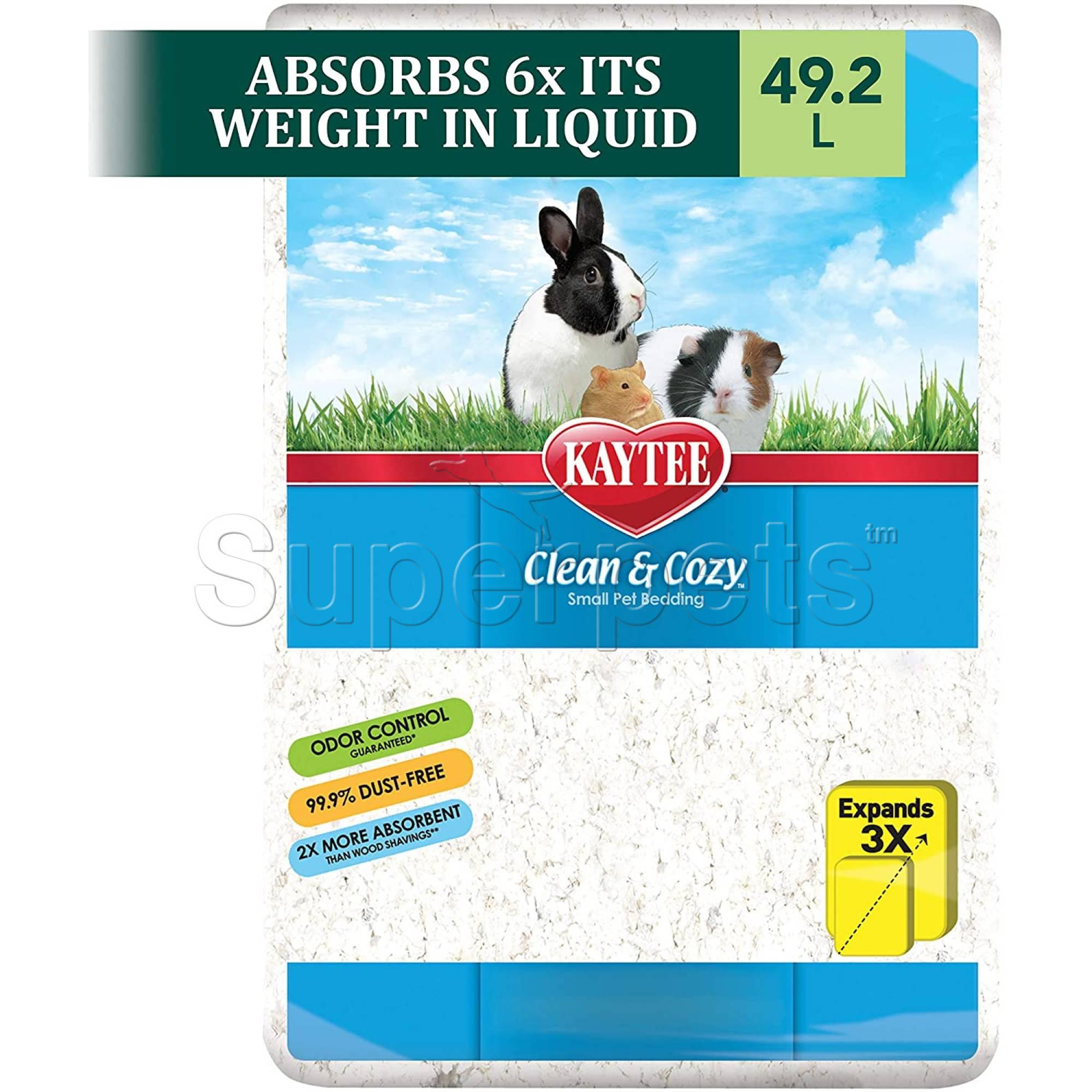 Kaytee Clean & Cozy - White Bedding 49.2L (3000cu)