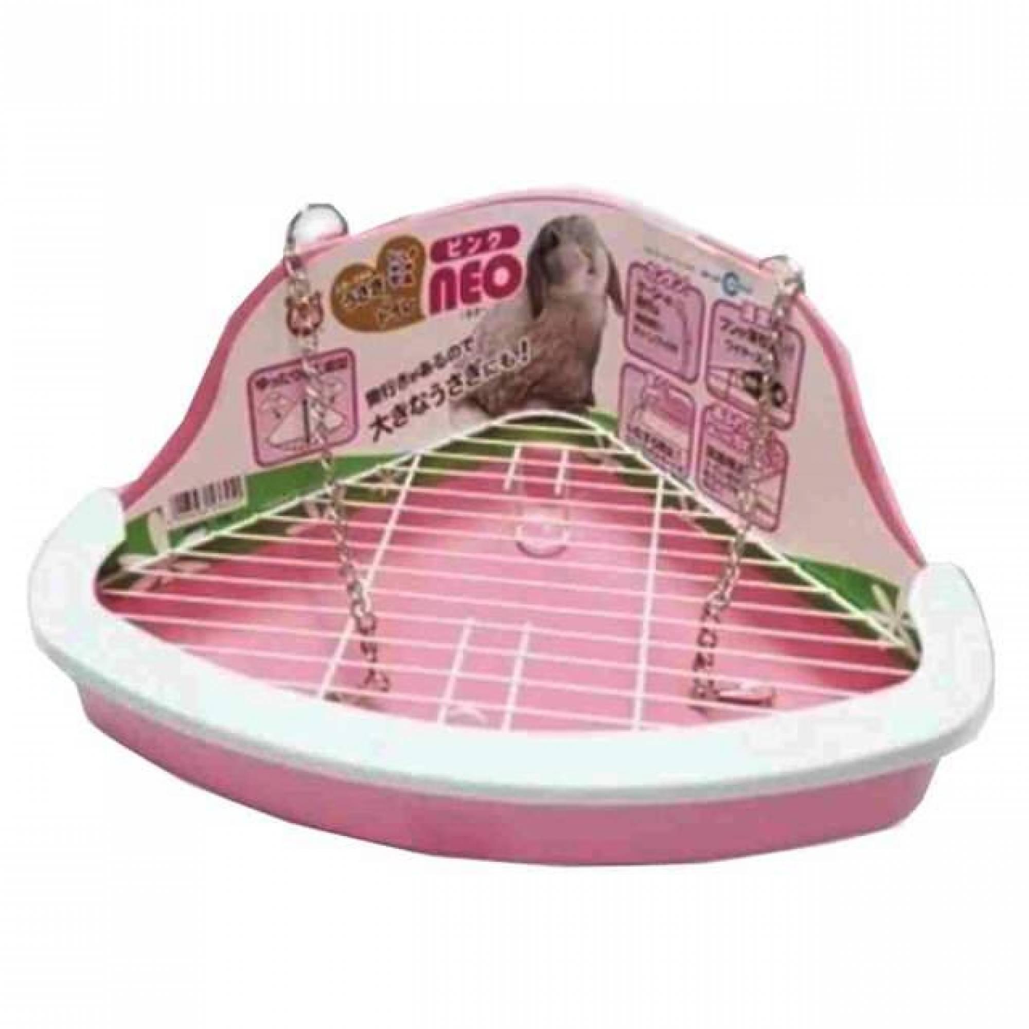 Marukan MR259 - Litter Pan for Rabbit Neo Pink