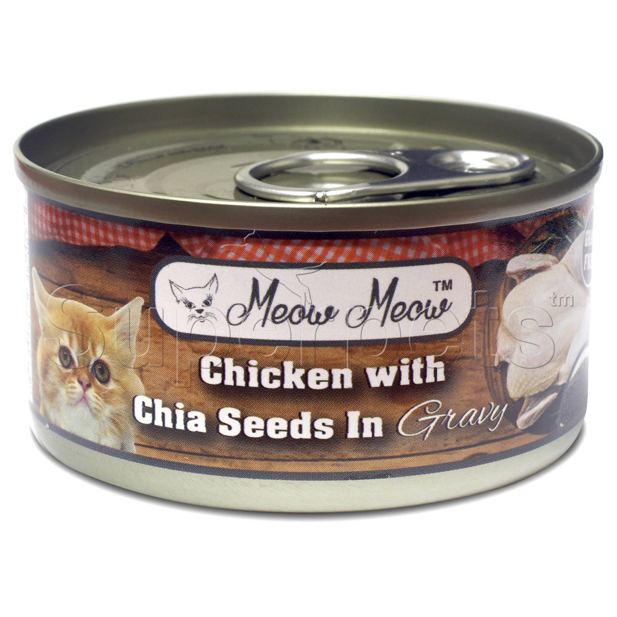 Meow Meow - Chicken with Chia Seeds in Gravy - Grain Free 80g