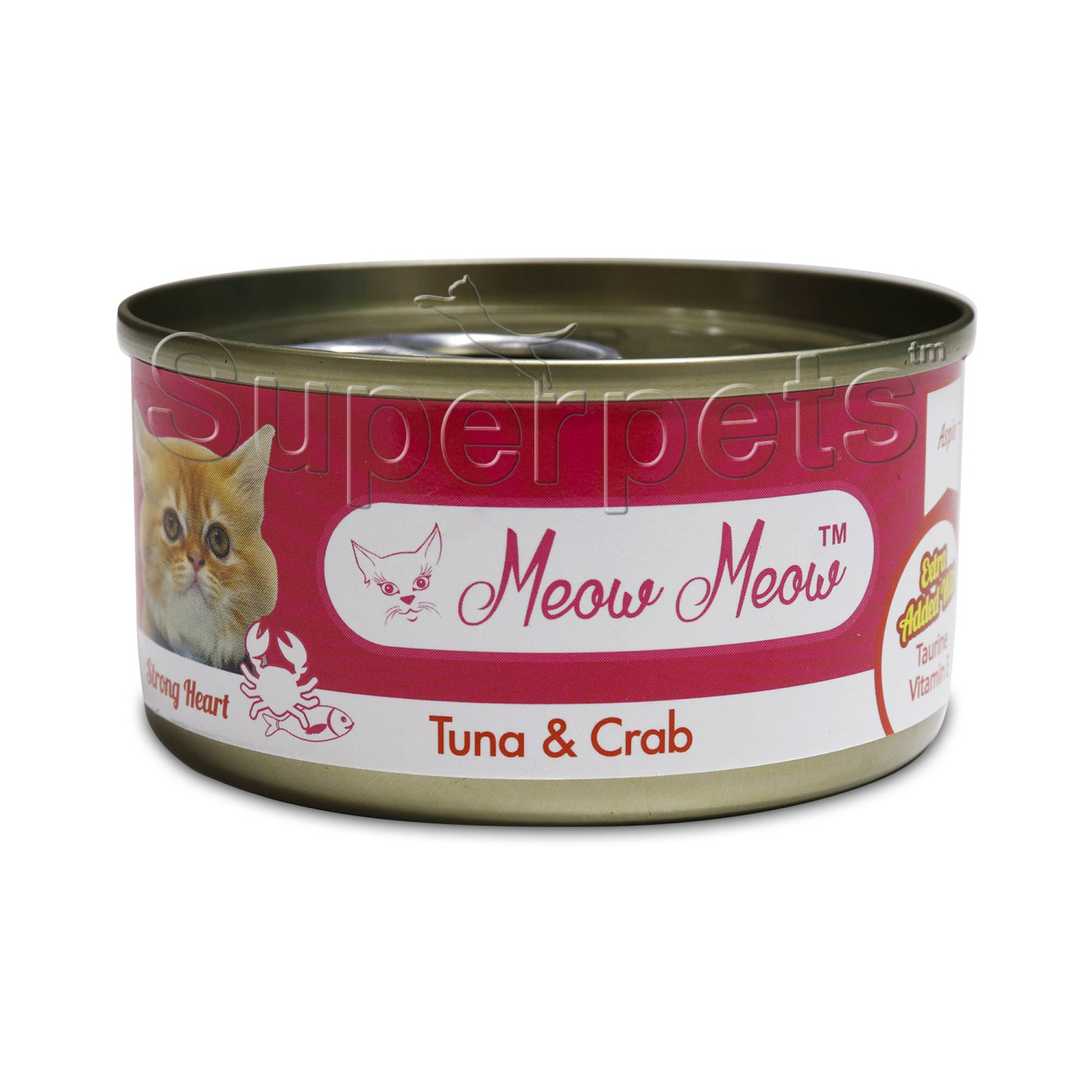 Meow Meow - Tuna & Crab - Grain Free 80g x 24pcs (1 carton)