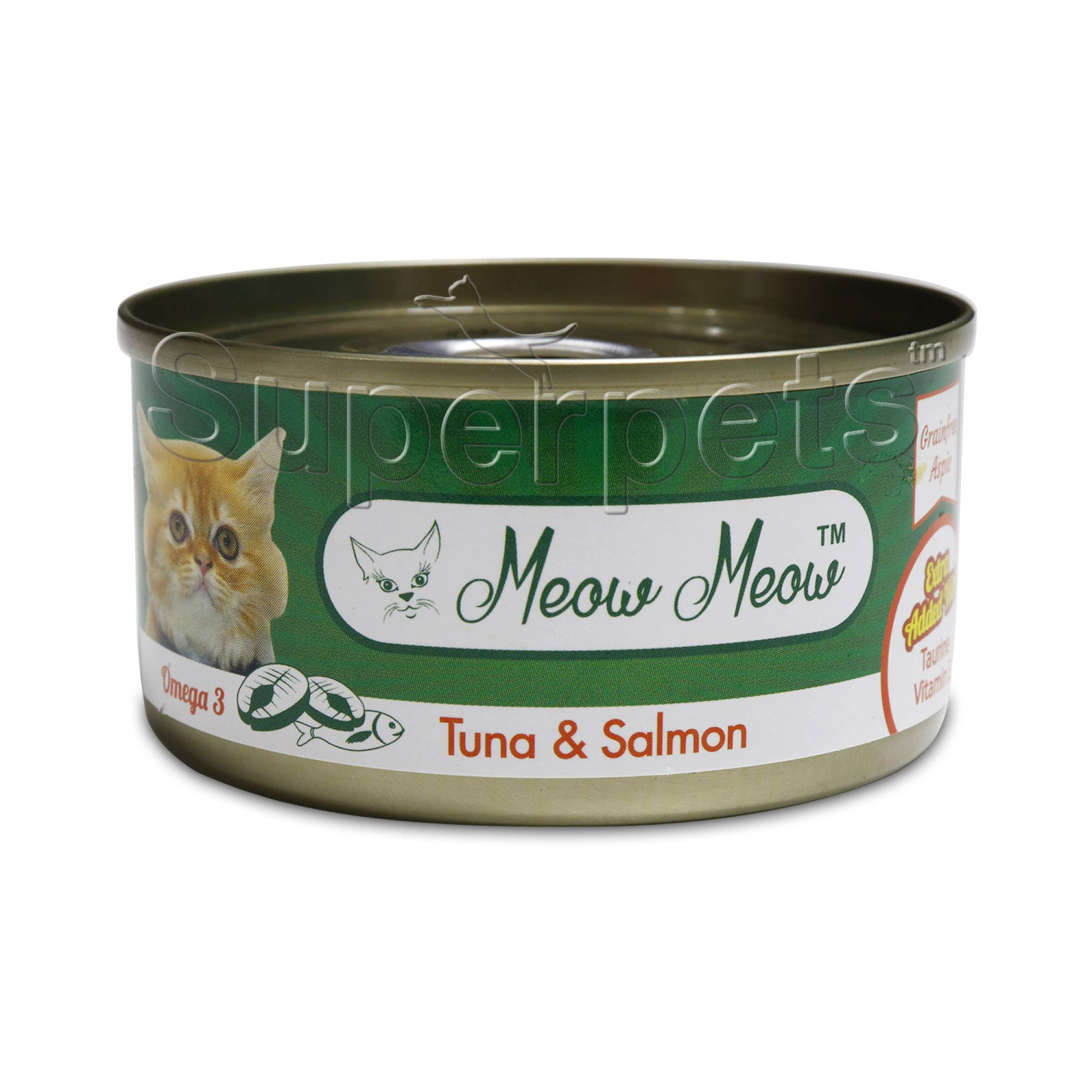 Meow Meow - Tuna & Salmon - Grain Free 80g x 24pcs (1 carton)