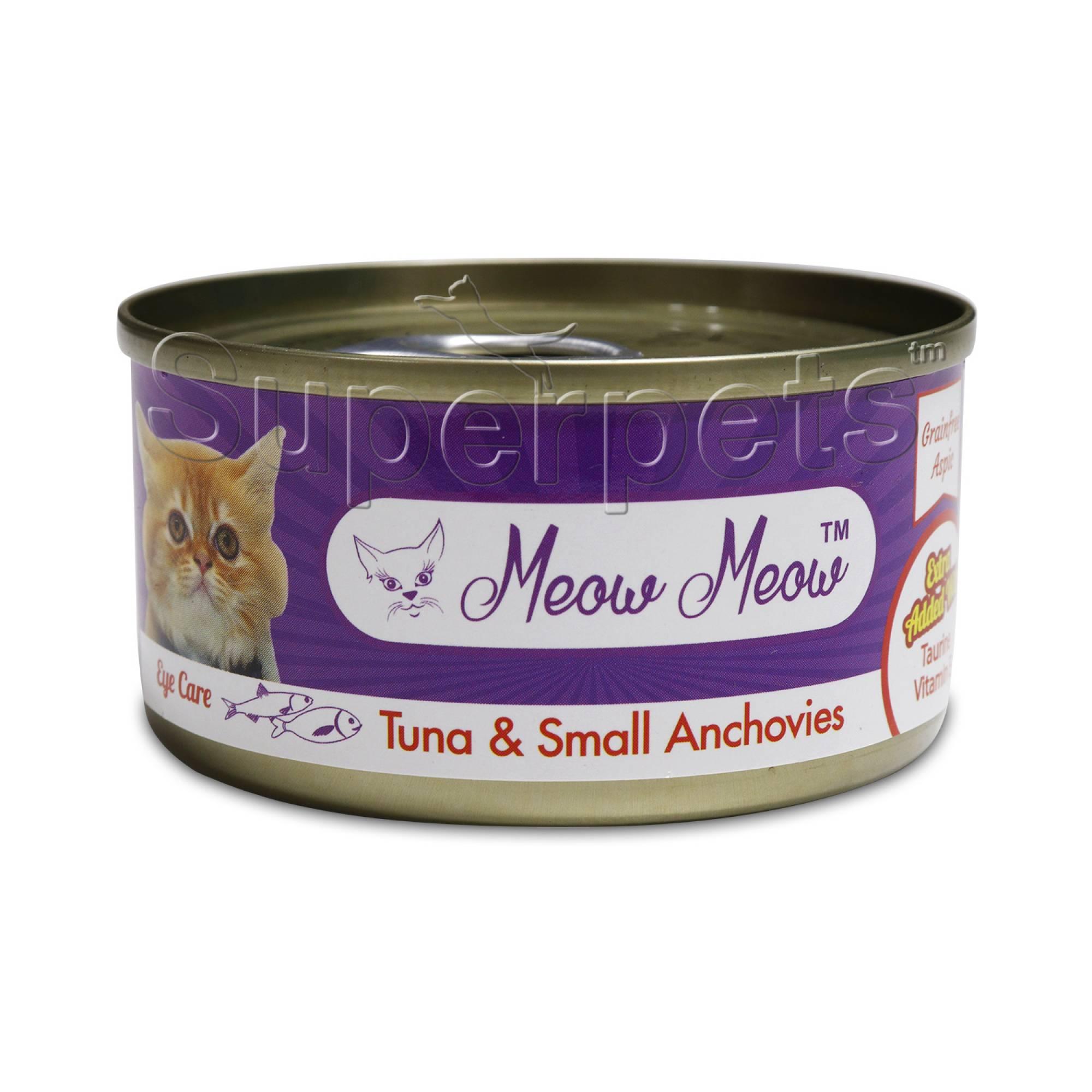 Meow Meow - Tuna & Small Anchovies - Grain Free 80g x 24pcs (1 carton)
