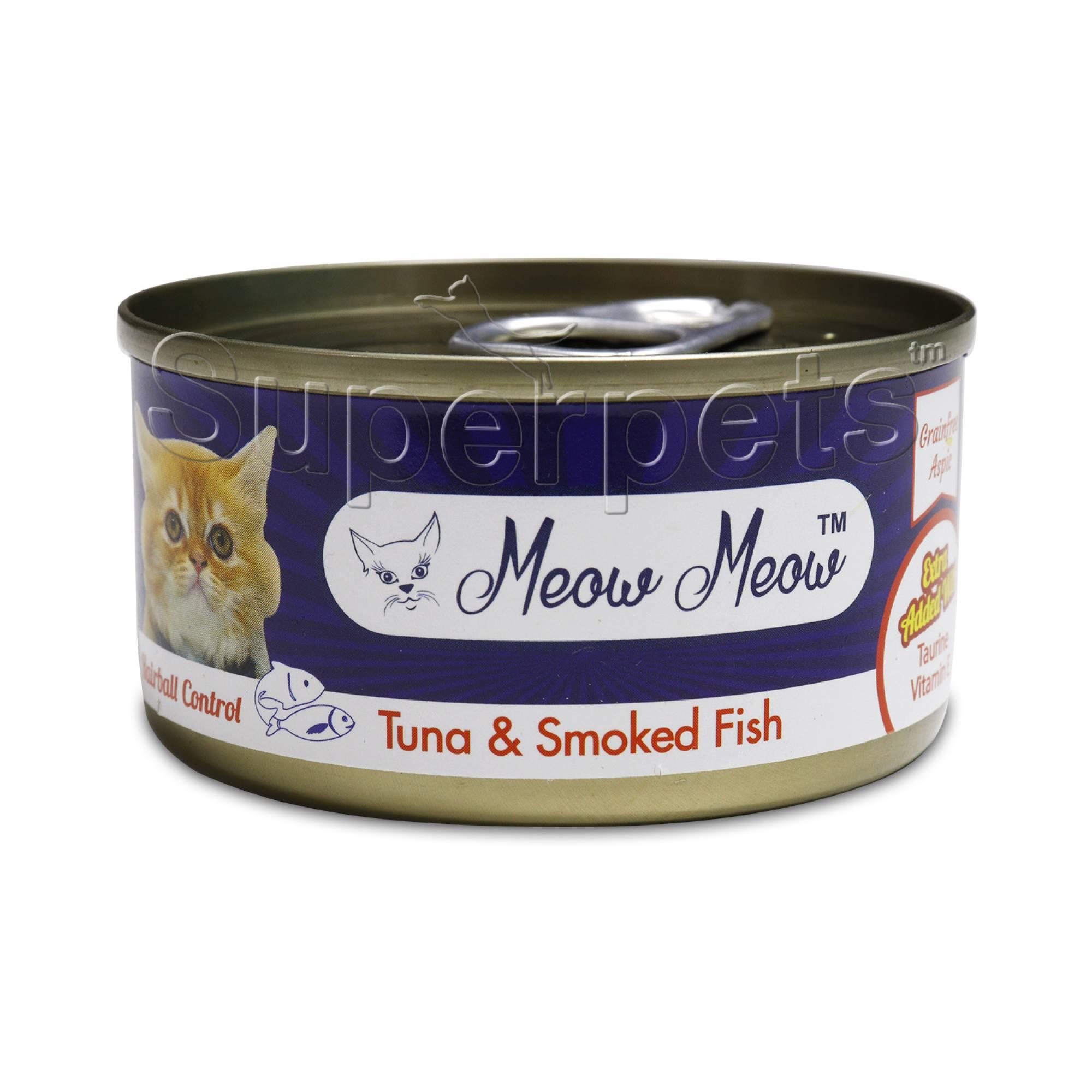Meow Meow - Tuna & Smoked Fish - Grain Free 80g x 24pcs (1 carton)